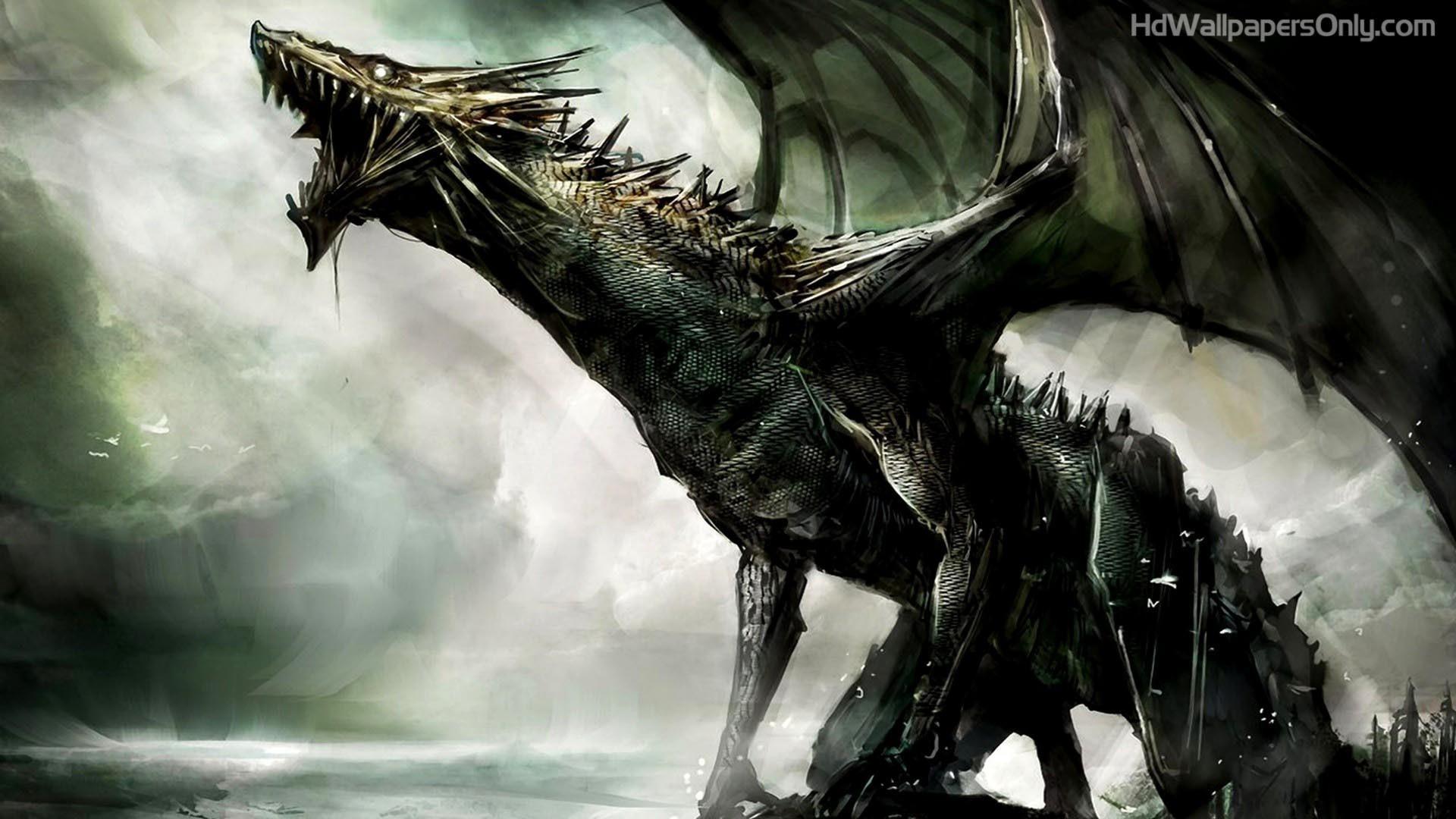1920x1080 Black Dragon HD Wallpaper