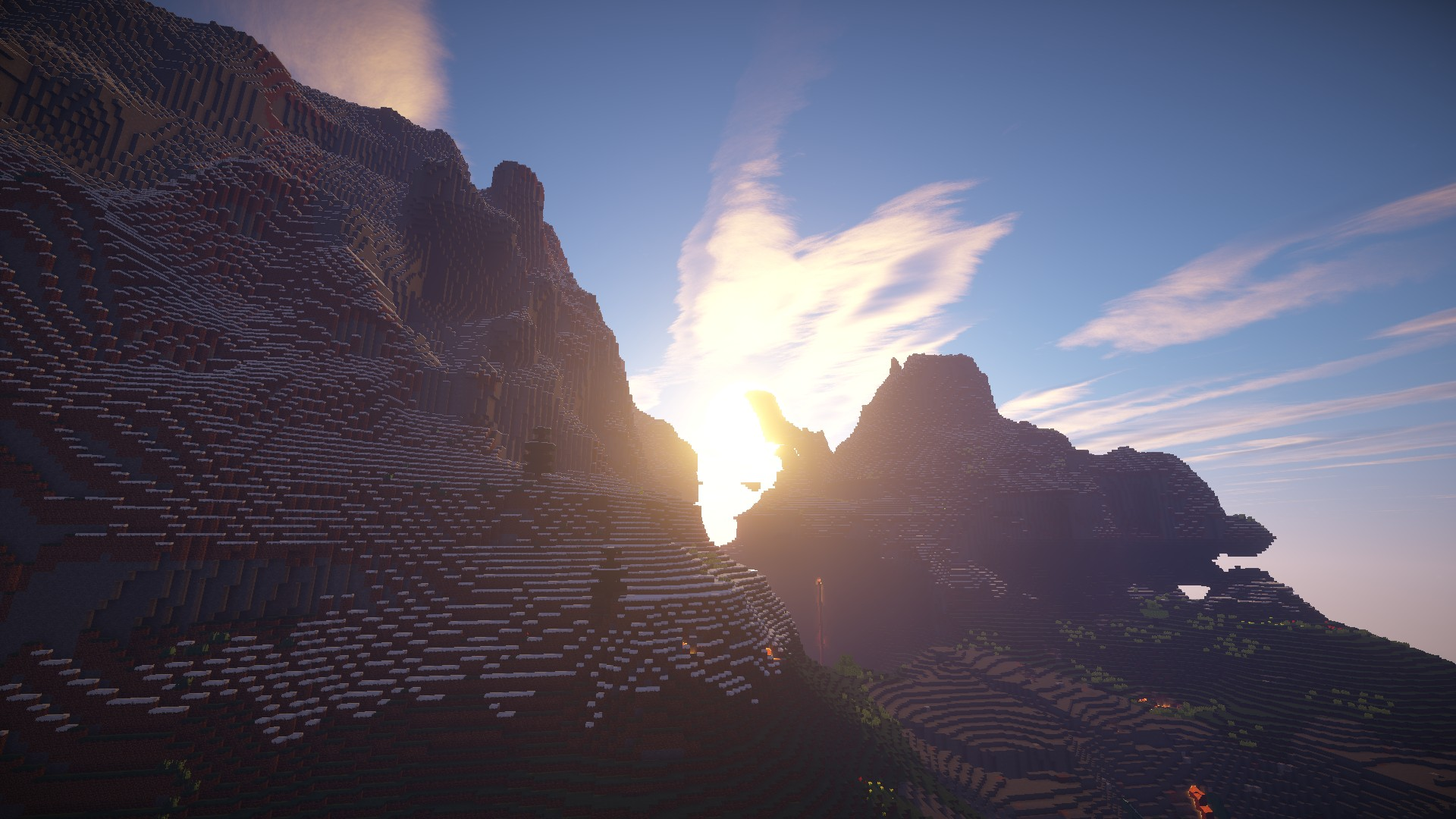 Realistic Minecraft Desktop Wallpapers [With GLSL Shaders ...
