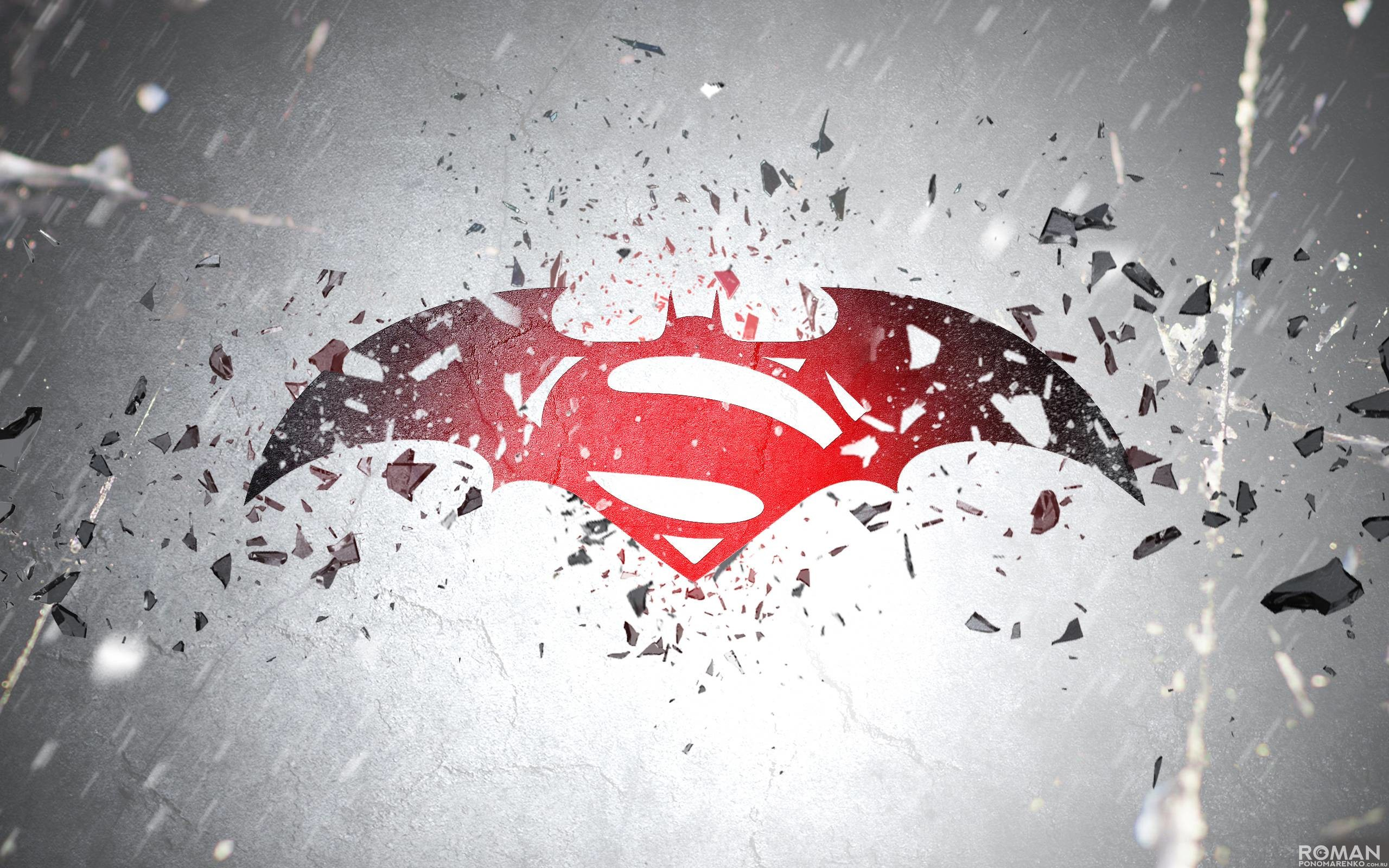 Superman And Batman Logo Wallpaper