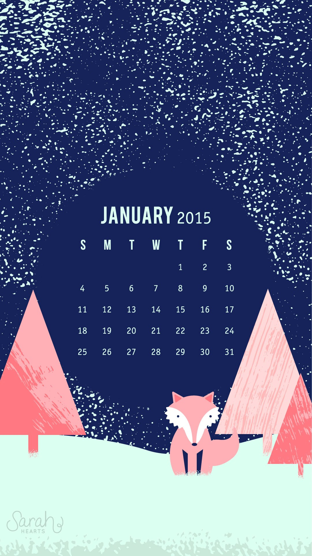 Calendar Lockscreen : January background ·① download free cool high resolution