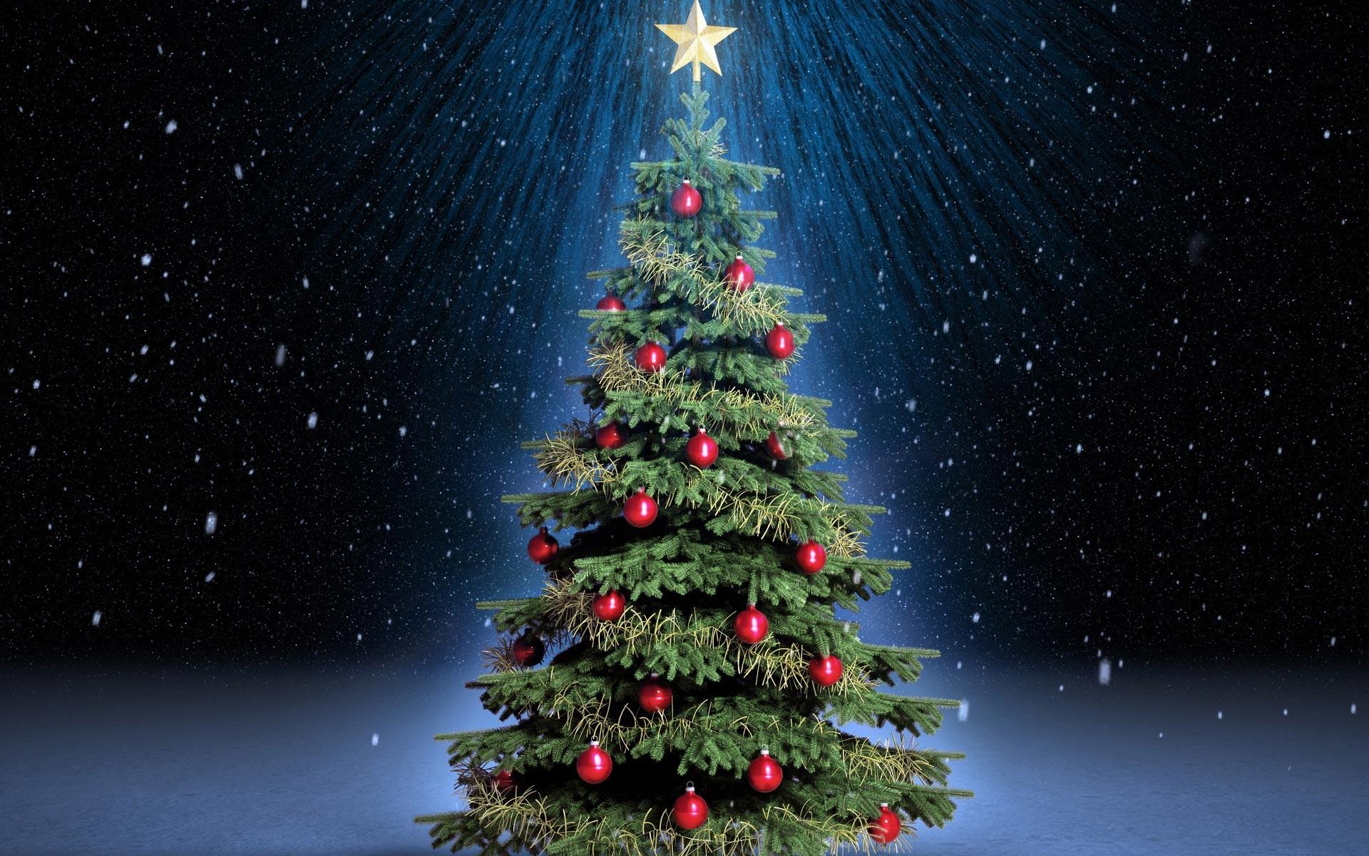 Christmas Tree 3D Wallpaper Poster 3d Christmas Tree Wallpaper
