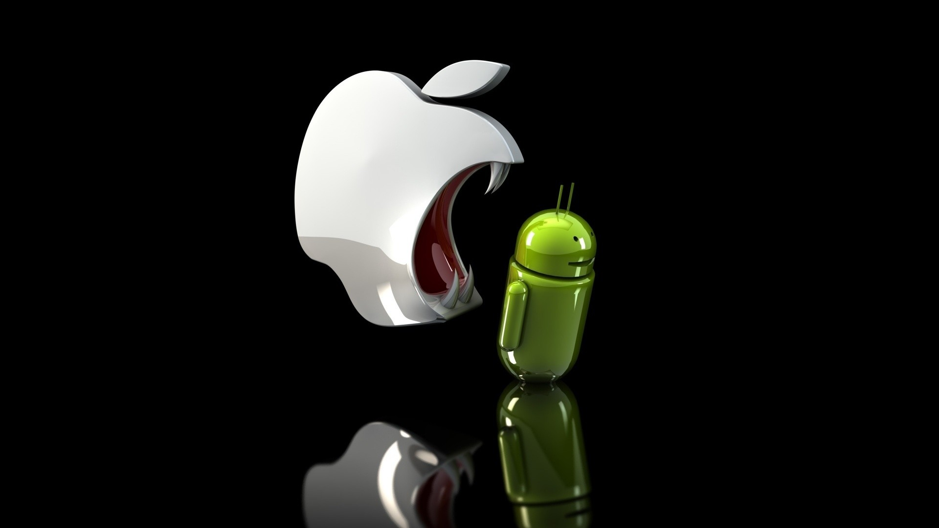 1920x1080 funny apple and android broken wallpaper hd 1