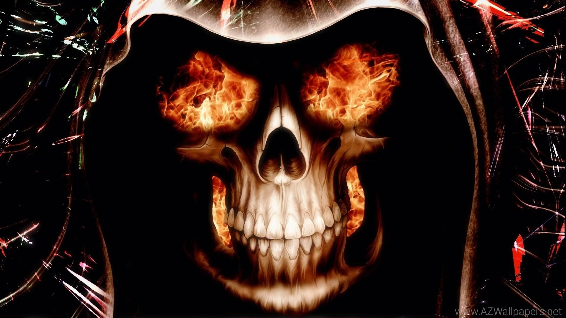 fire skull wallpapers. Black Bedroom Furniture Sets. Home Design Ideas