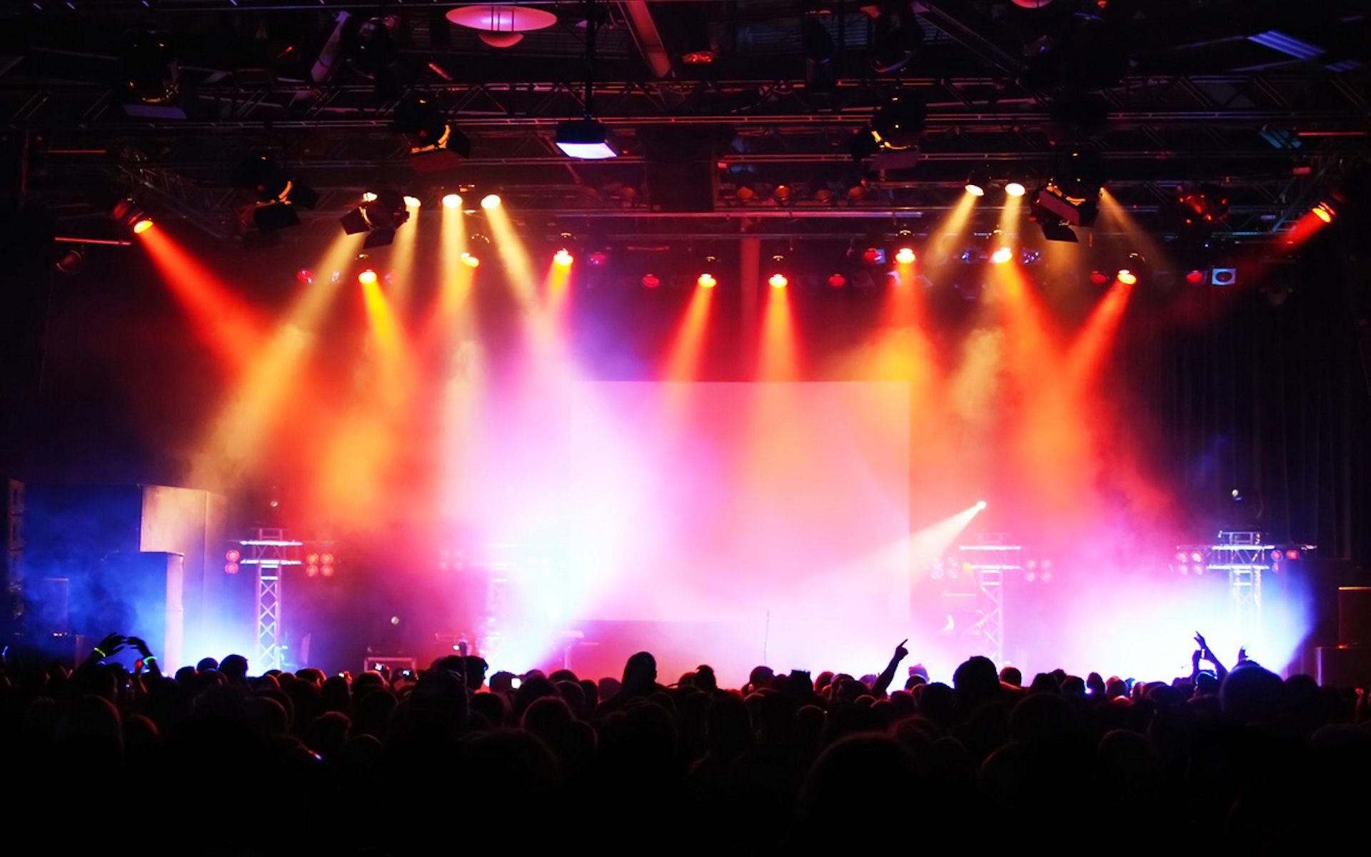 rock concert stage wallpaper