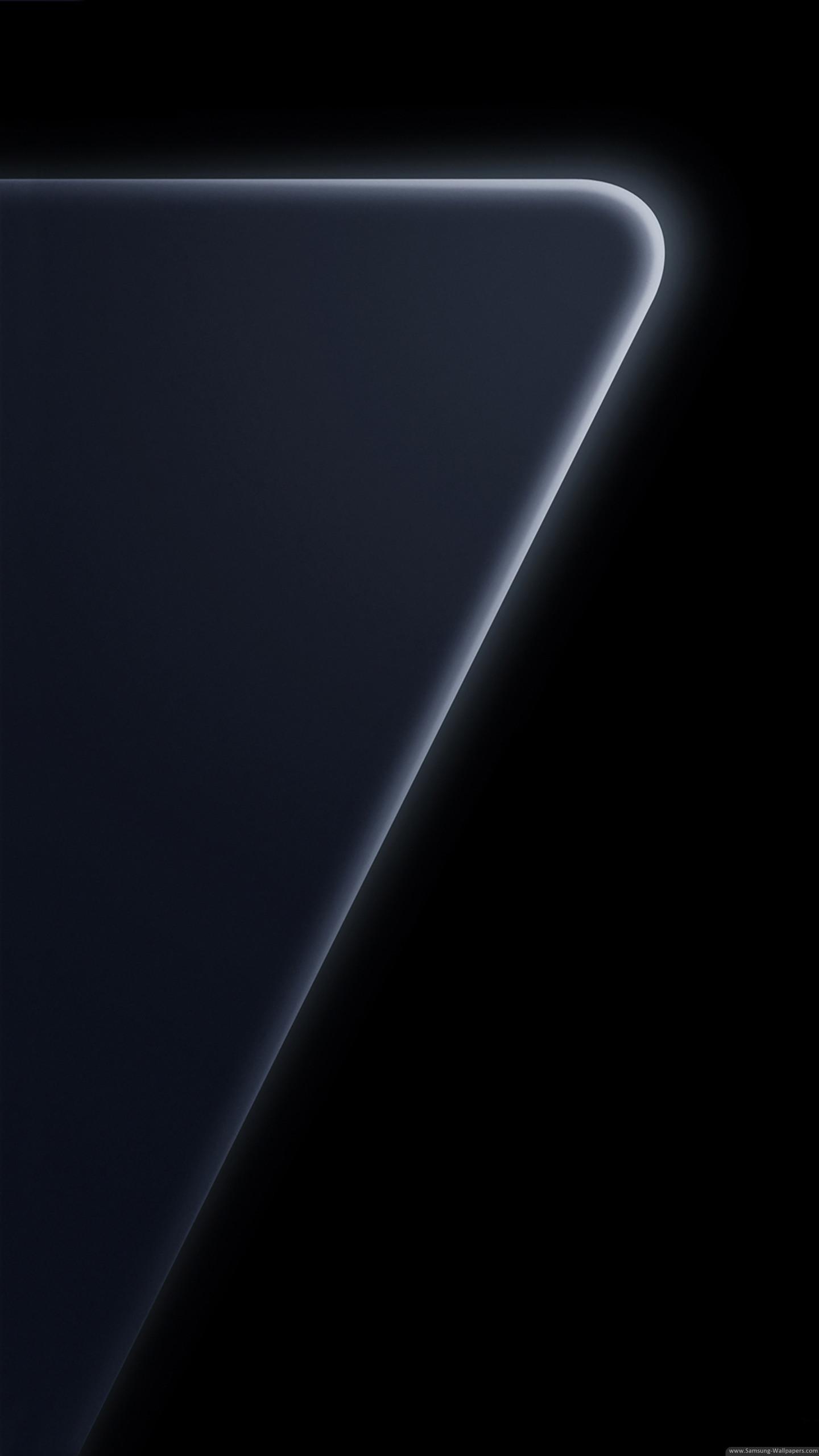 1440x2560 Samsung Galaxy S7 Edge Official Black Stock Wallpaper HD Download