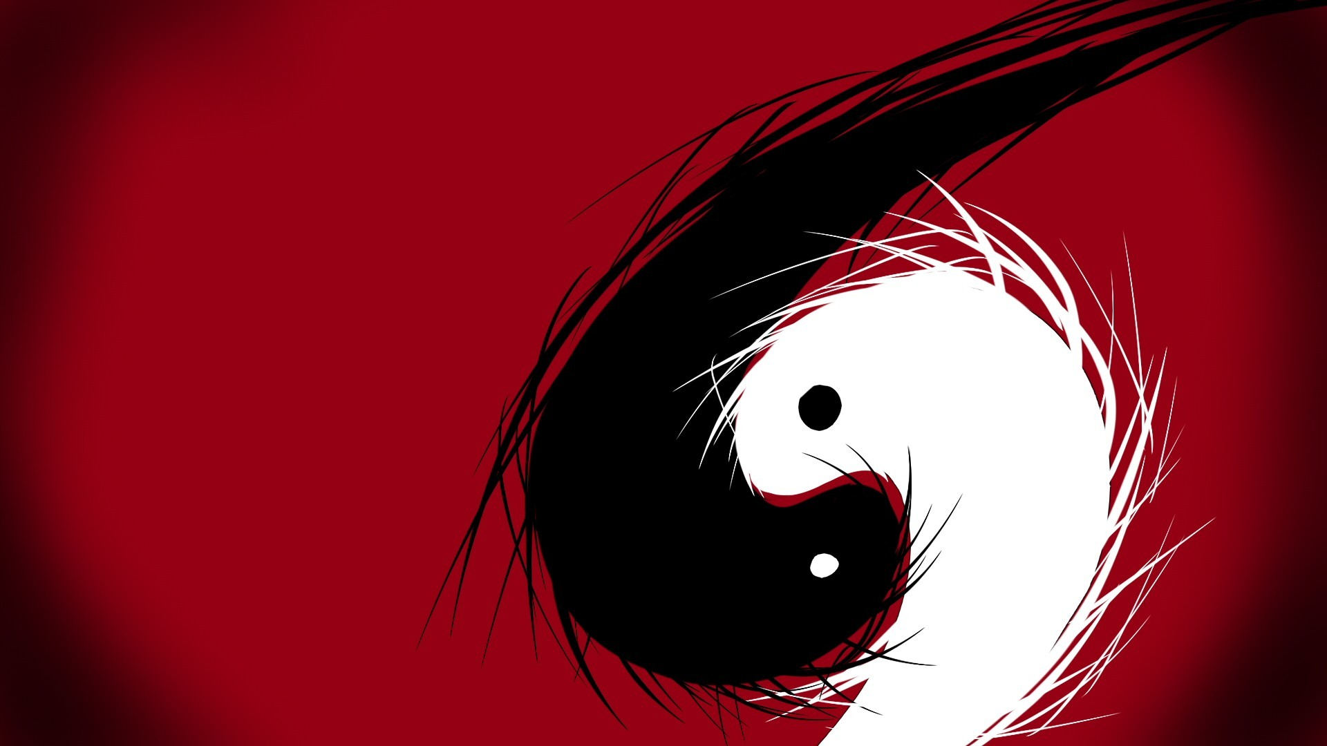 Yin Yang Dragon Wallpaper 1