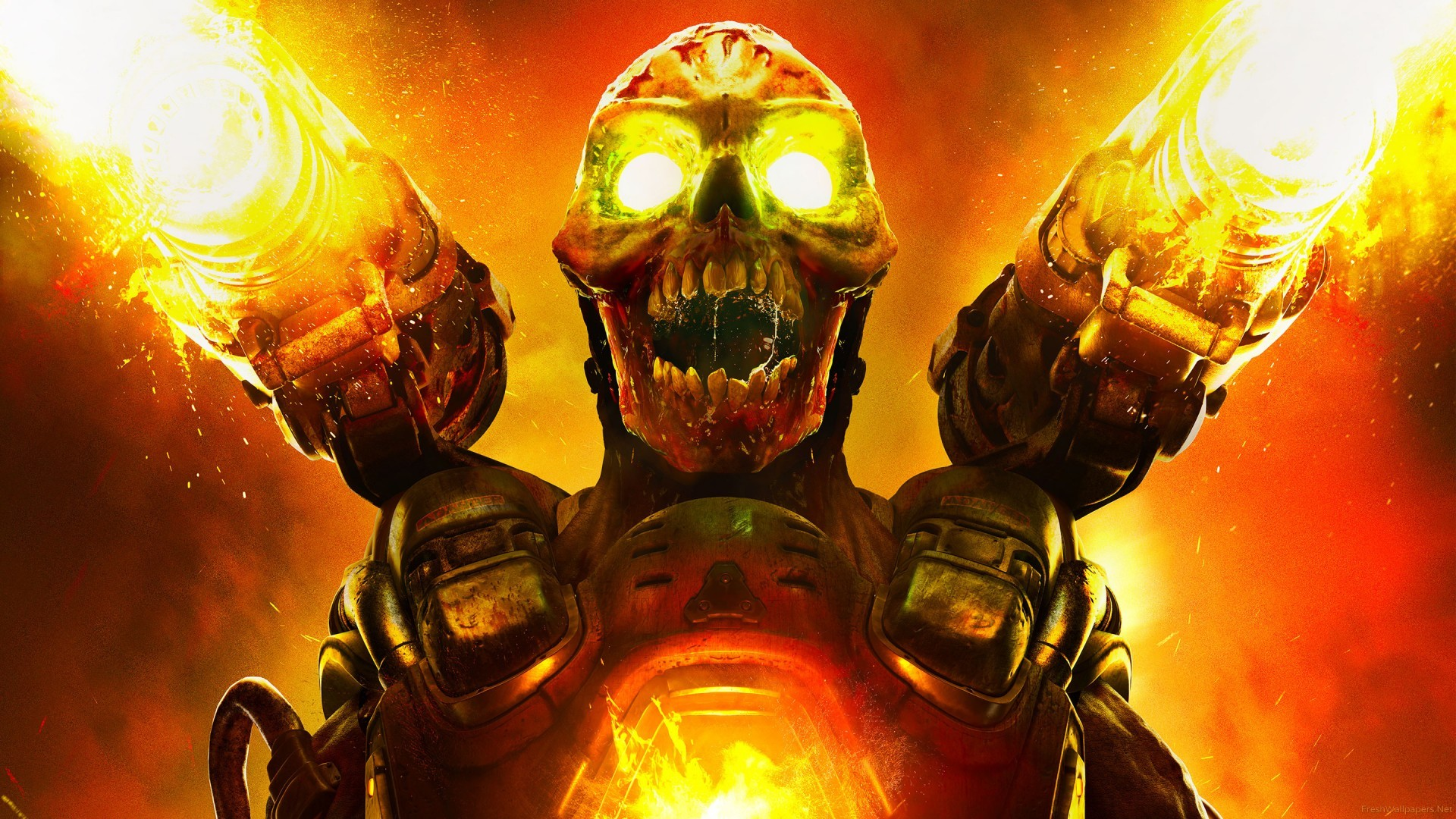 Doom wallpaper 1920x1080 ·① Download free full HD