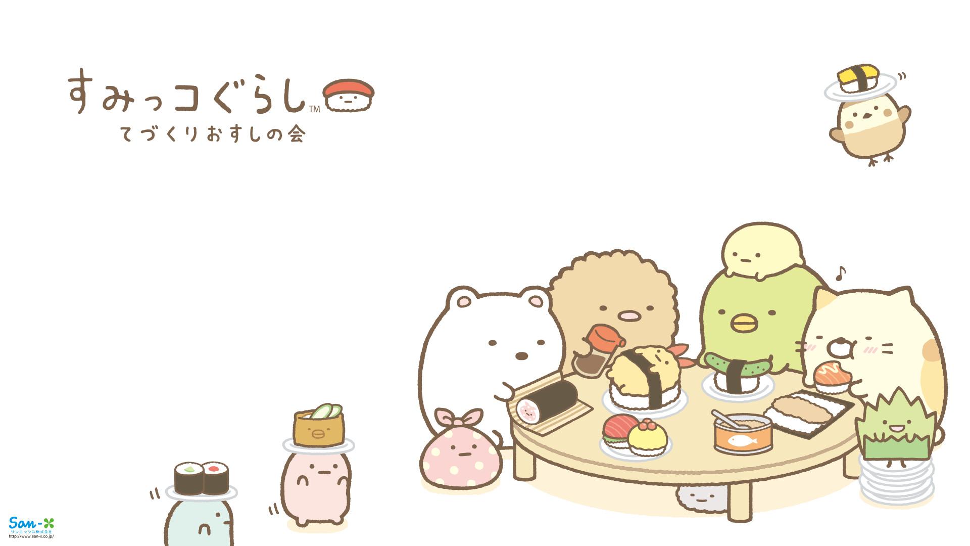 1920x1080 Sumikkogurashi Sushi Wallpapers Cute Kawaii Blog