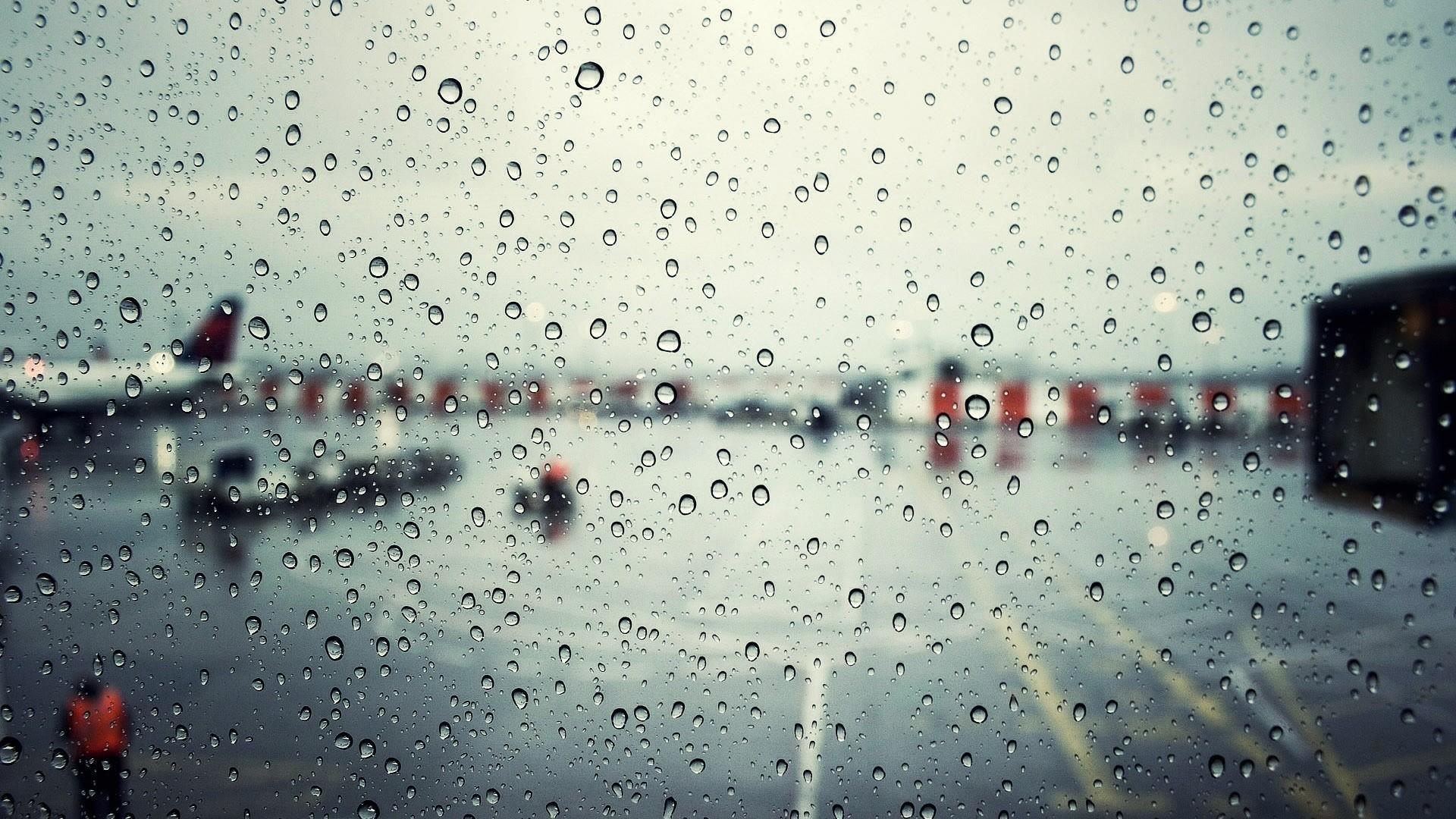 Rain Window Wallpaper