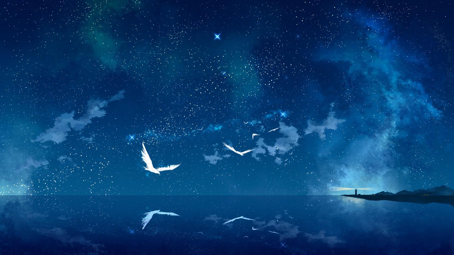 Widescreen Anime Scenery Wallpaper 1920x1080