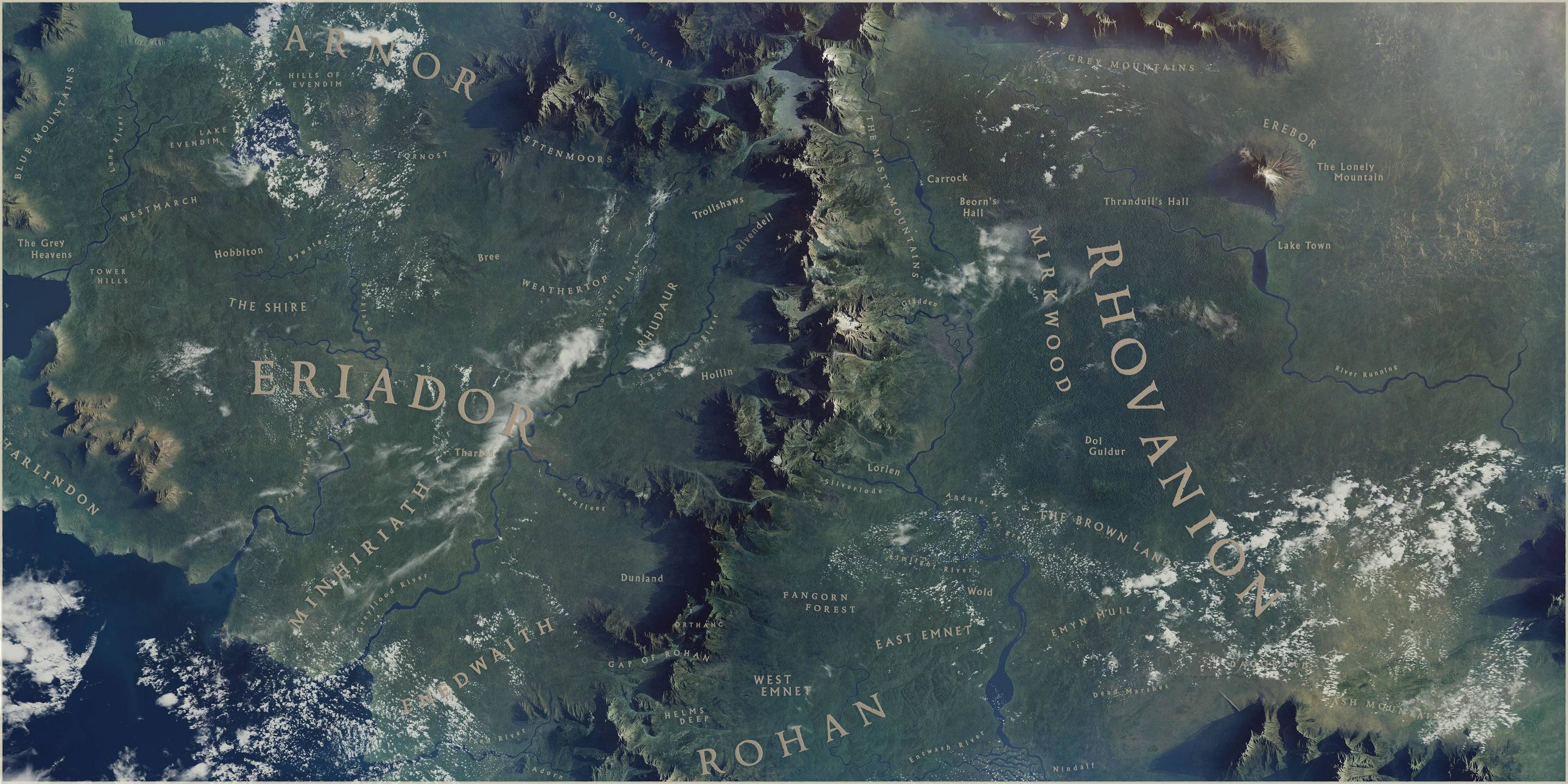 map of middle earth wallpaper  u00b7 u2460