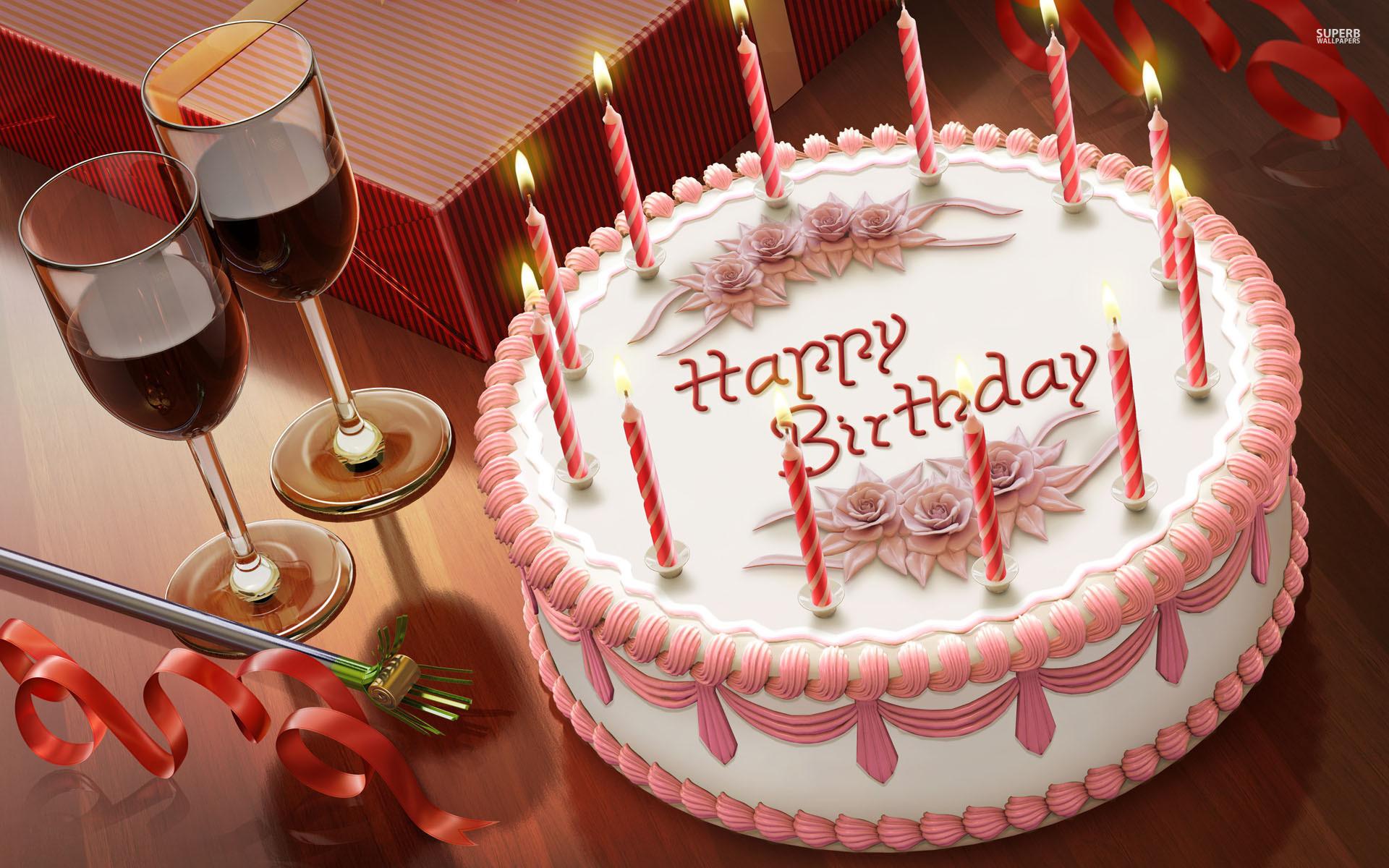 Wallpaper for birthday cake