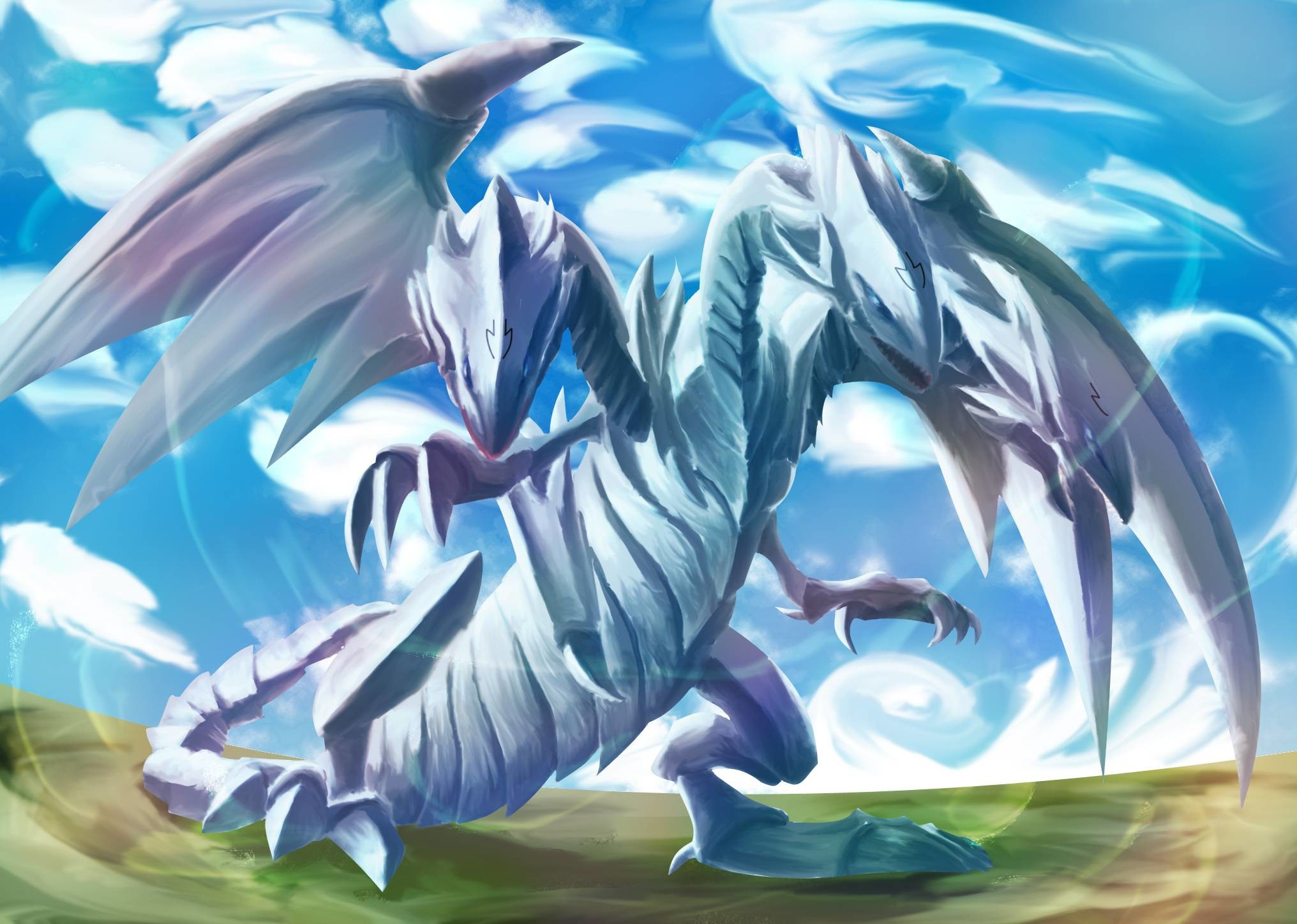 Red Eyes Black Dragon Vs Blue Eyes White Dragon Wallpaper