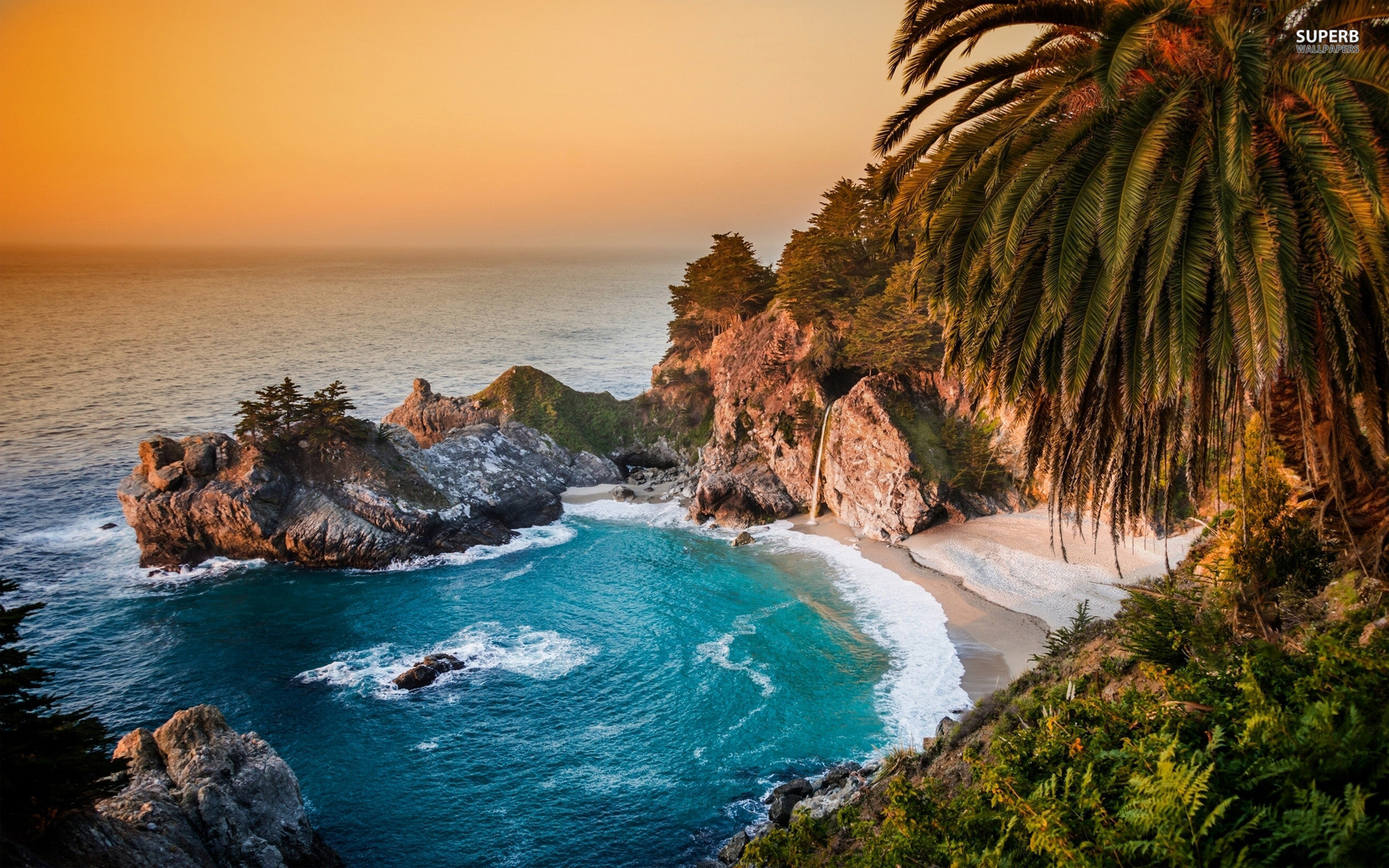 California Beach Wallpaper ·①