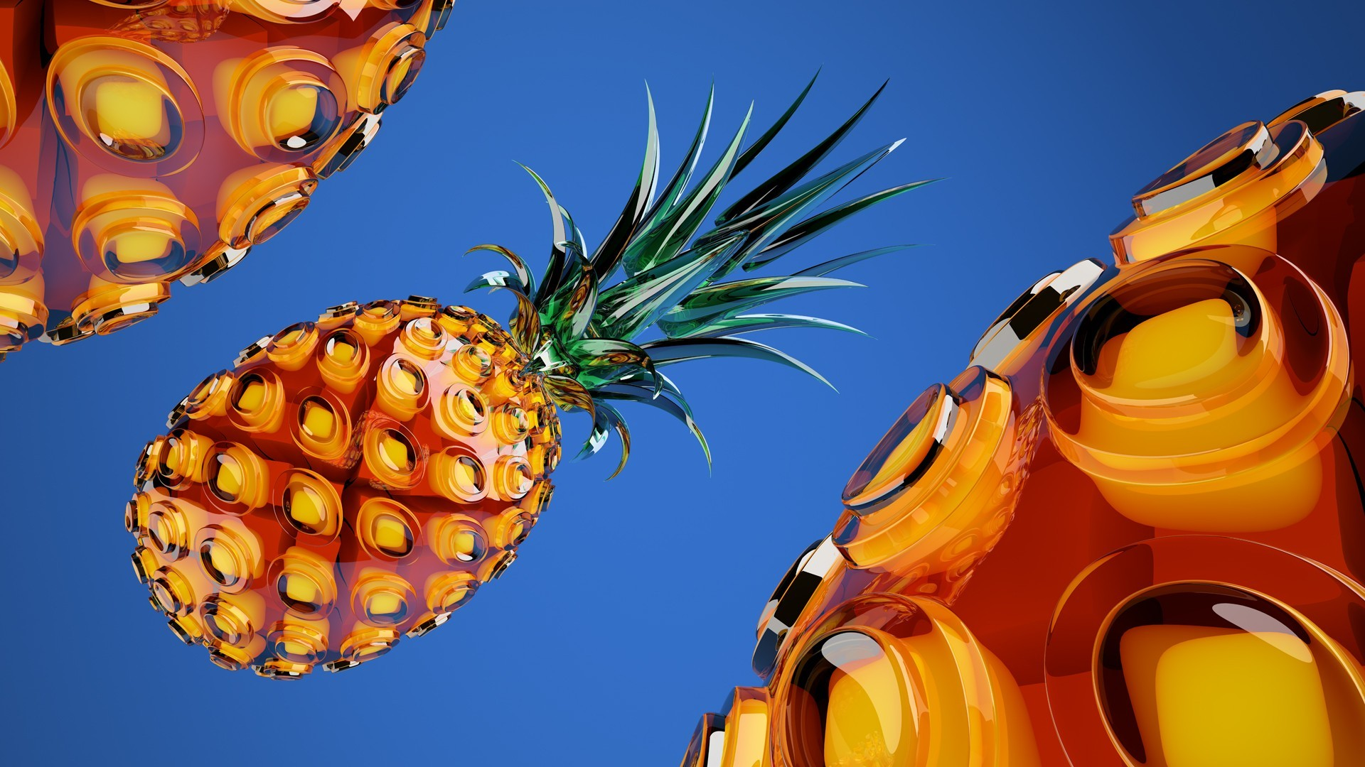 1920x1080 Stunning Pineapple HD Wallpaper Free Download