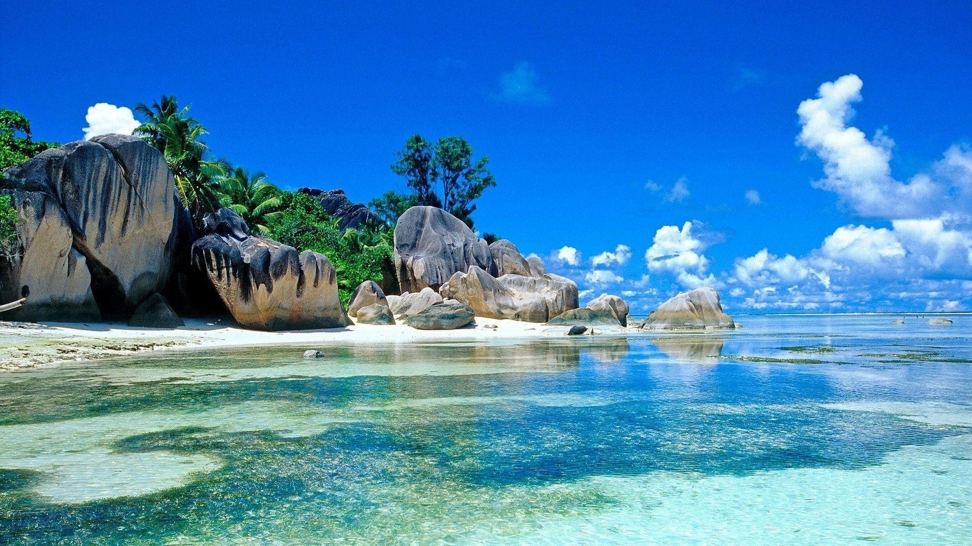 1920x1080 beautiful tropical beach hd wallpaper 1920aƒ 1080 imgstocks com