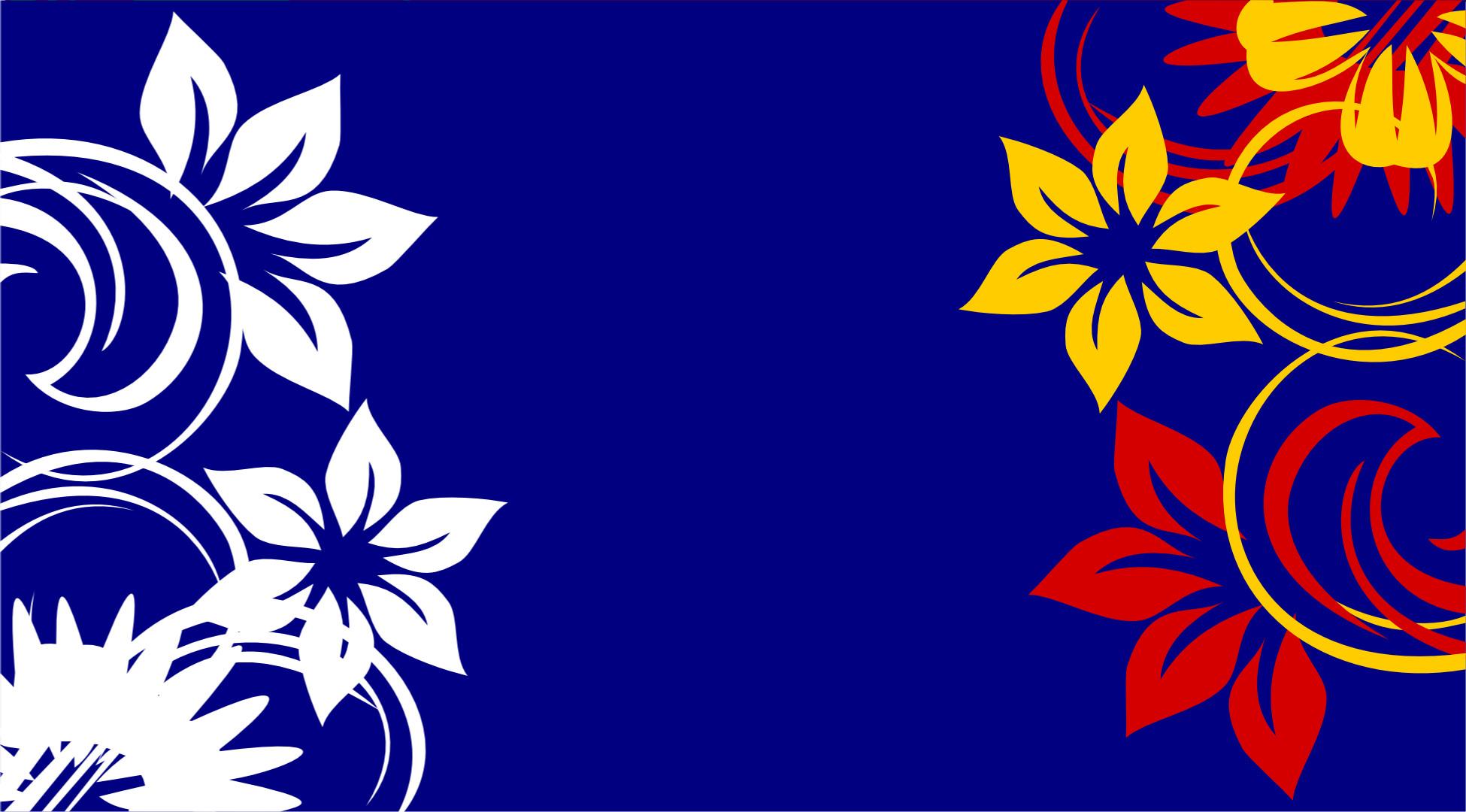 Blue Floral Background 1