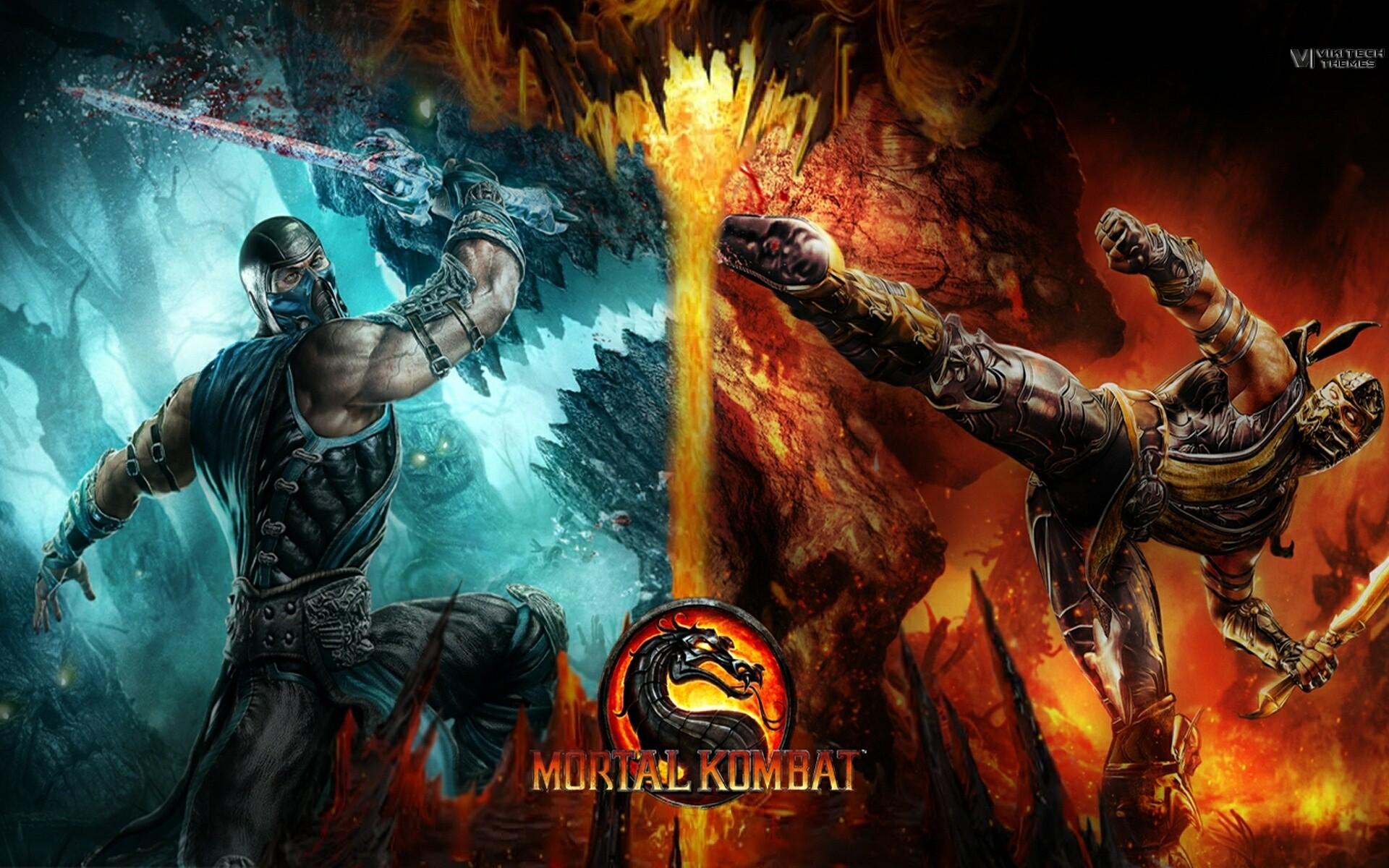 Mortal Kombat Scorpion Vs Sub Zero Wallpaper Wallpapertag