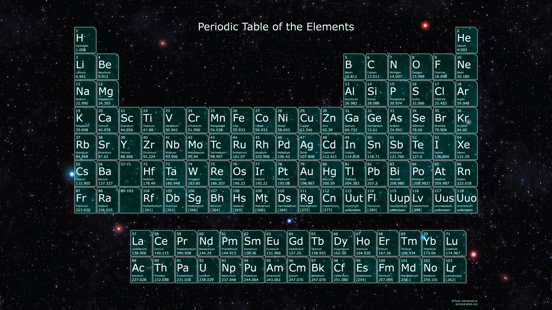 Typeface periodic table images periodic table images periodic table wallpaper download free beautiful full hd 1920x1080 periodic table in space gamestrikefo images gamestrikefo Choice Image