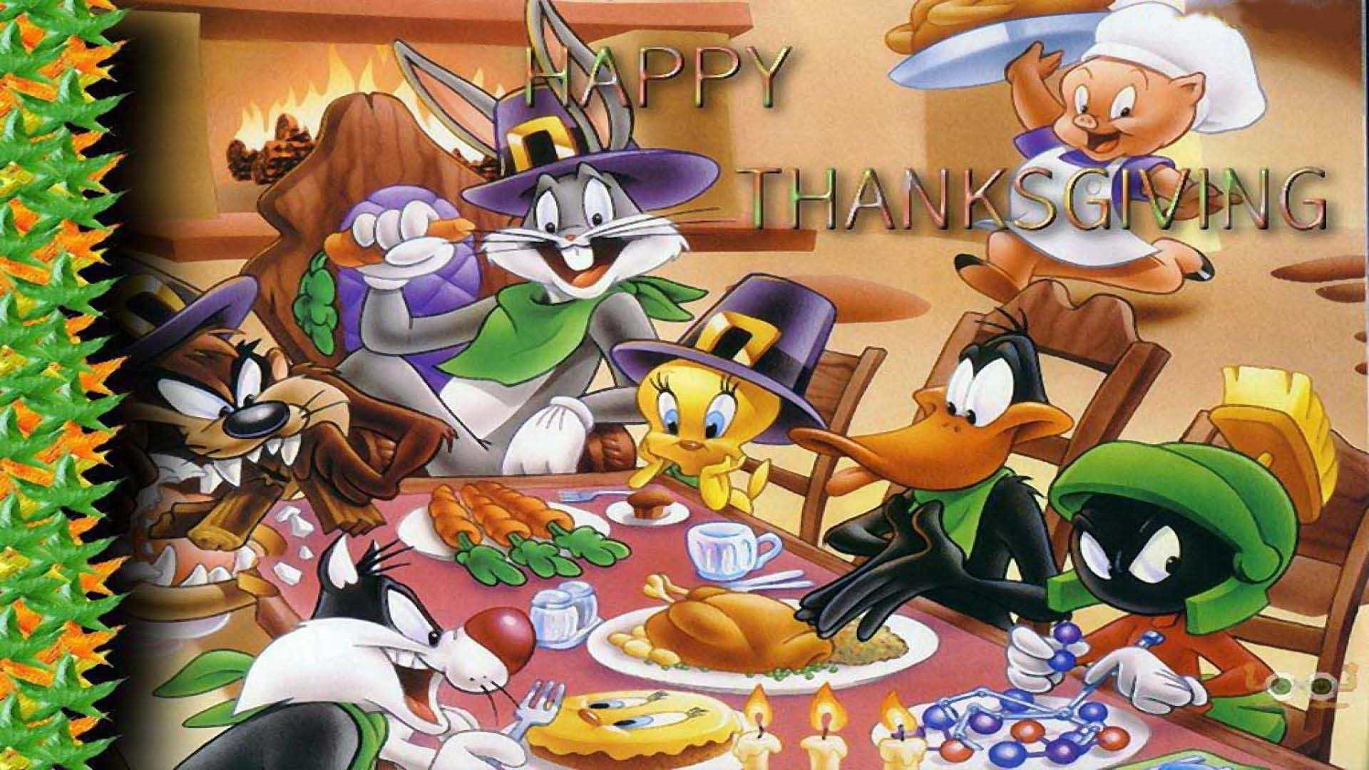 Group Of Snoopy Thanksgiving Wallpaper 1920 X 1080