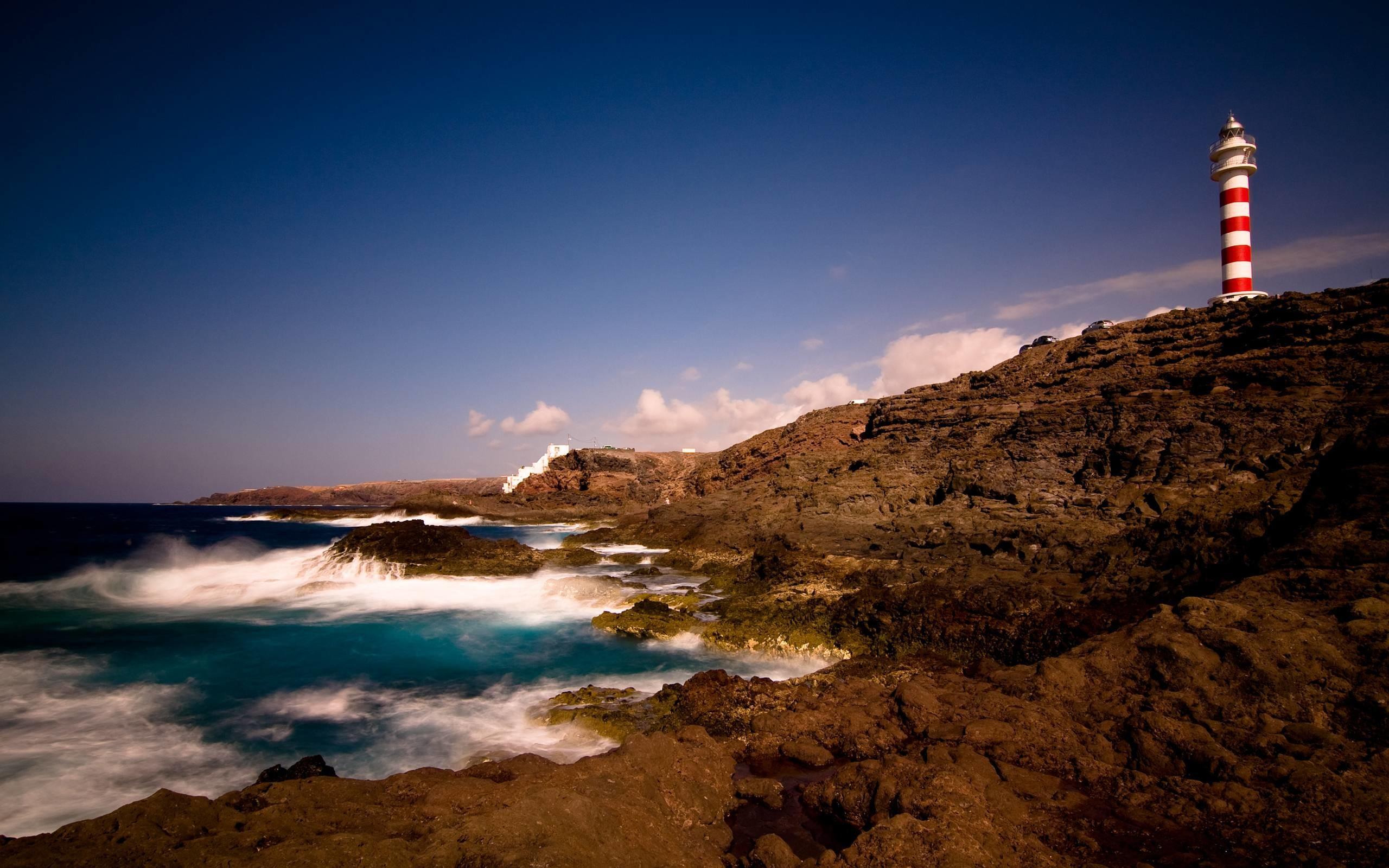 природа маяк море скалы  № 2238531 без смс