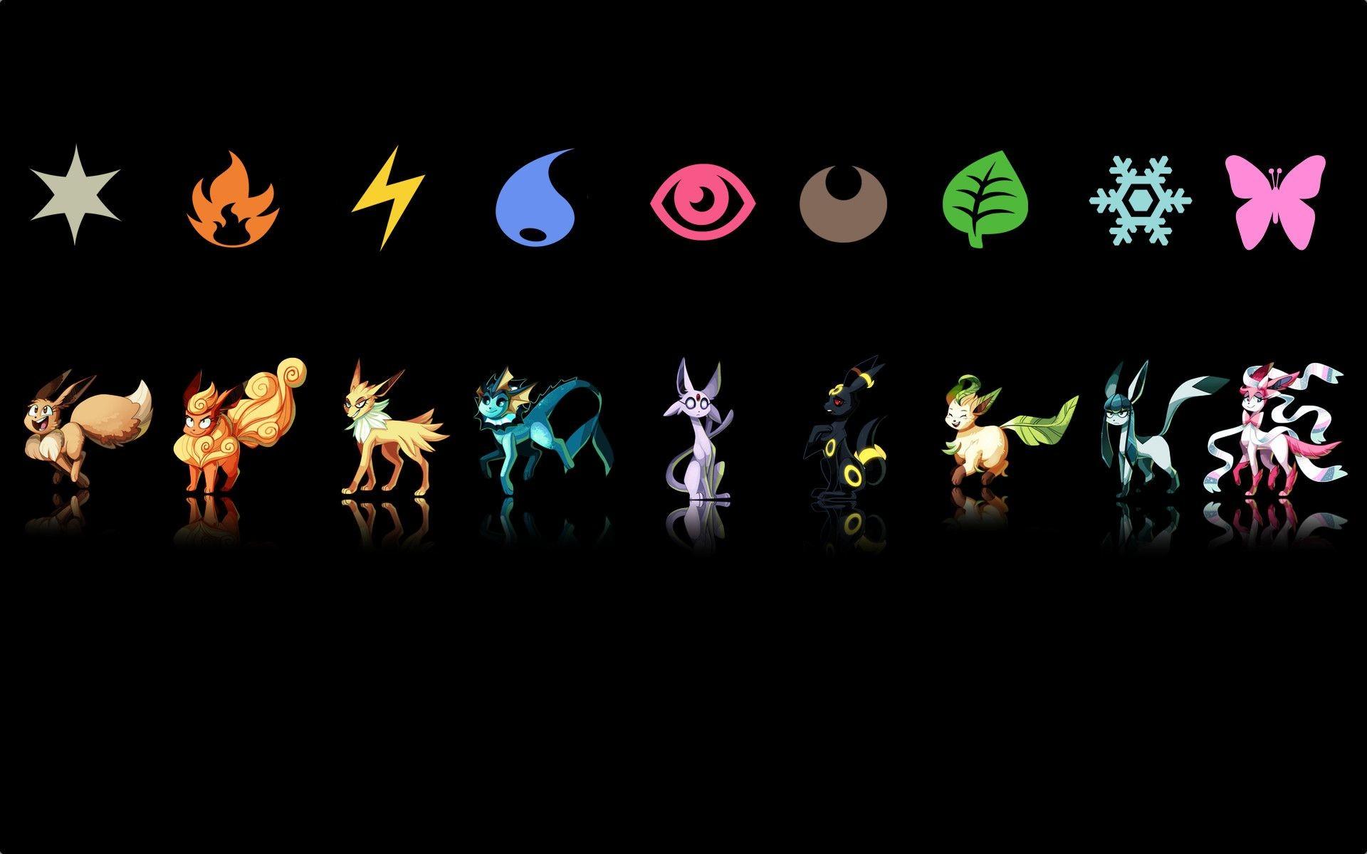 Eevee Evolutions Wallpaper 1