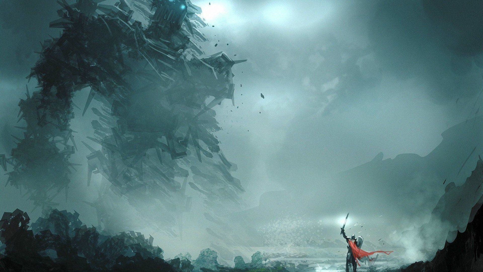 shadow of the colossus wallpaper wander