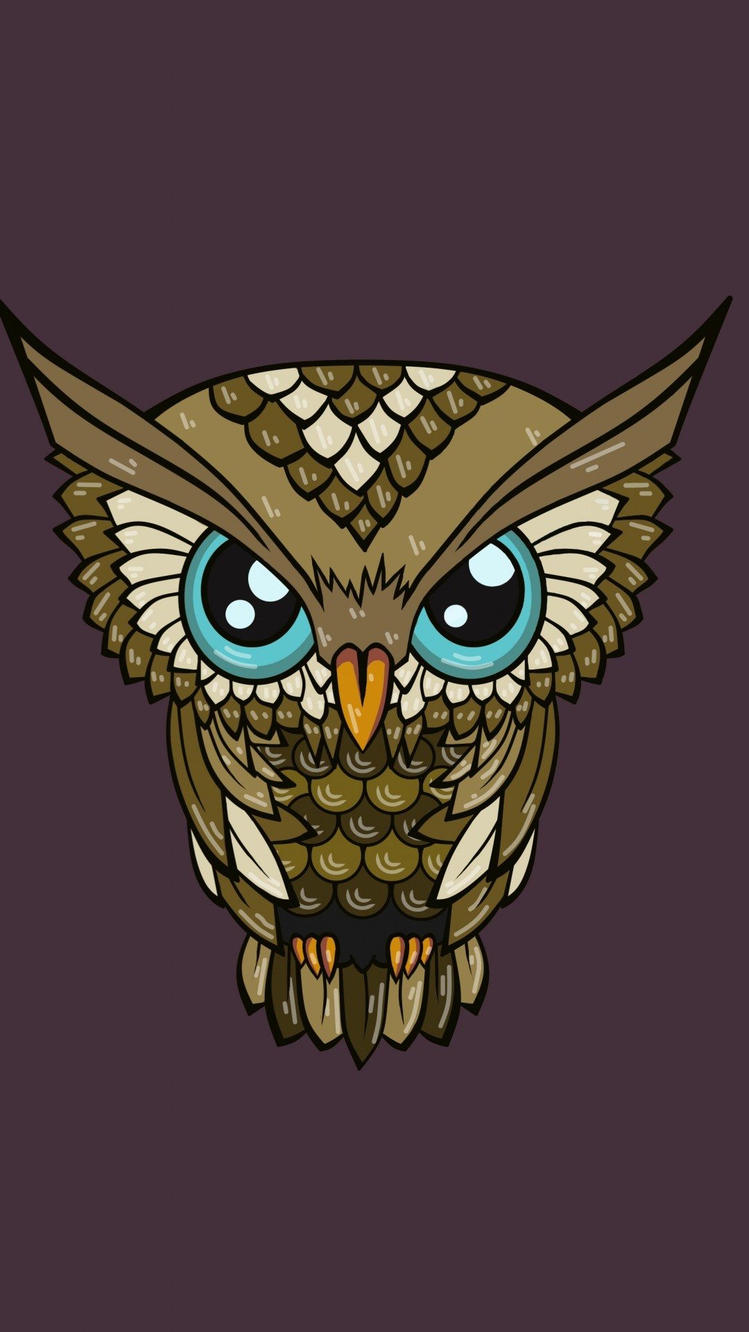 cute owl wallpaper ·①