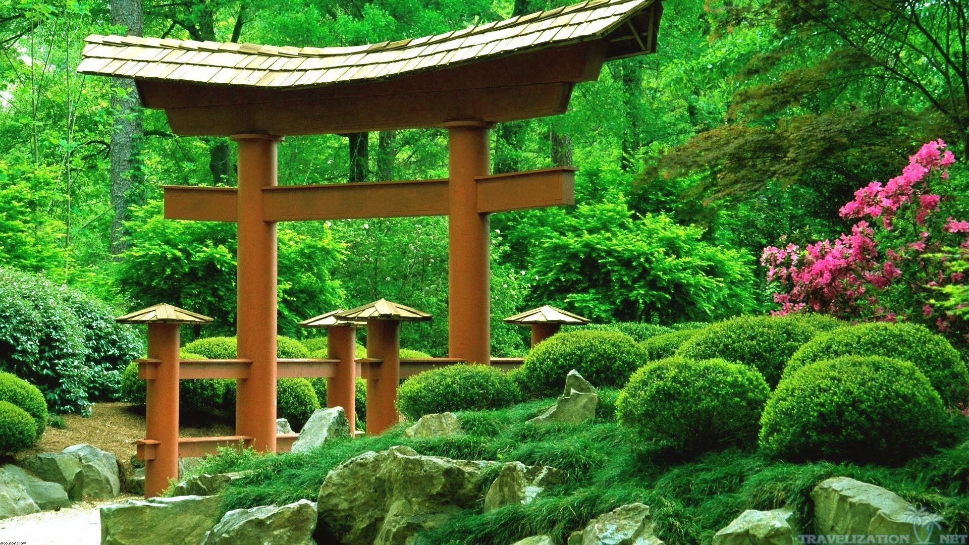 traditional japanese garden wallpapers download wide - Japanese Garden Wallpaper
