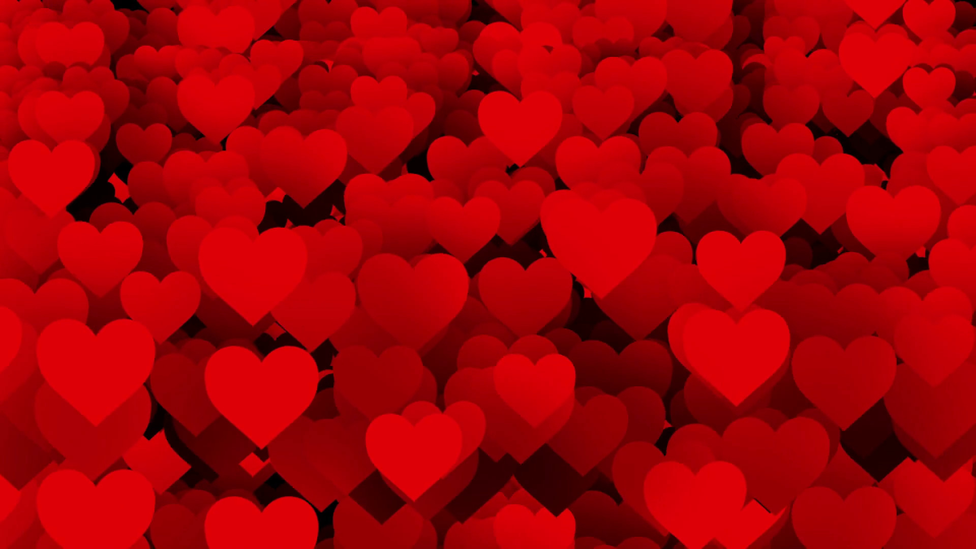 Red Heart Love Wallpaper: Red Heart Background ·①