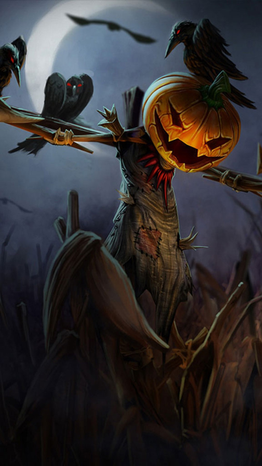 Scary wallpaper download free backgrounds for desktop - Scary halloween pumpkin wallpaper ...