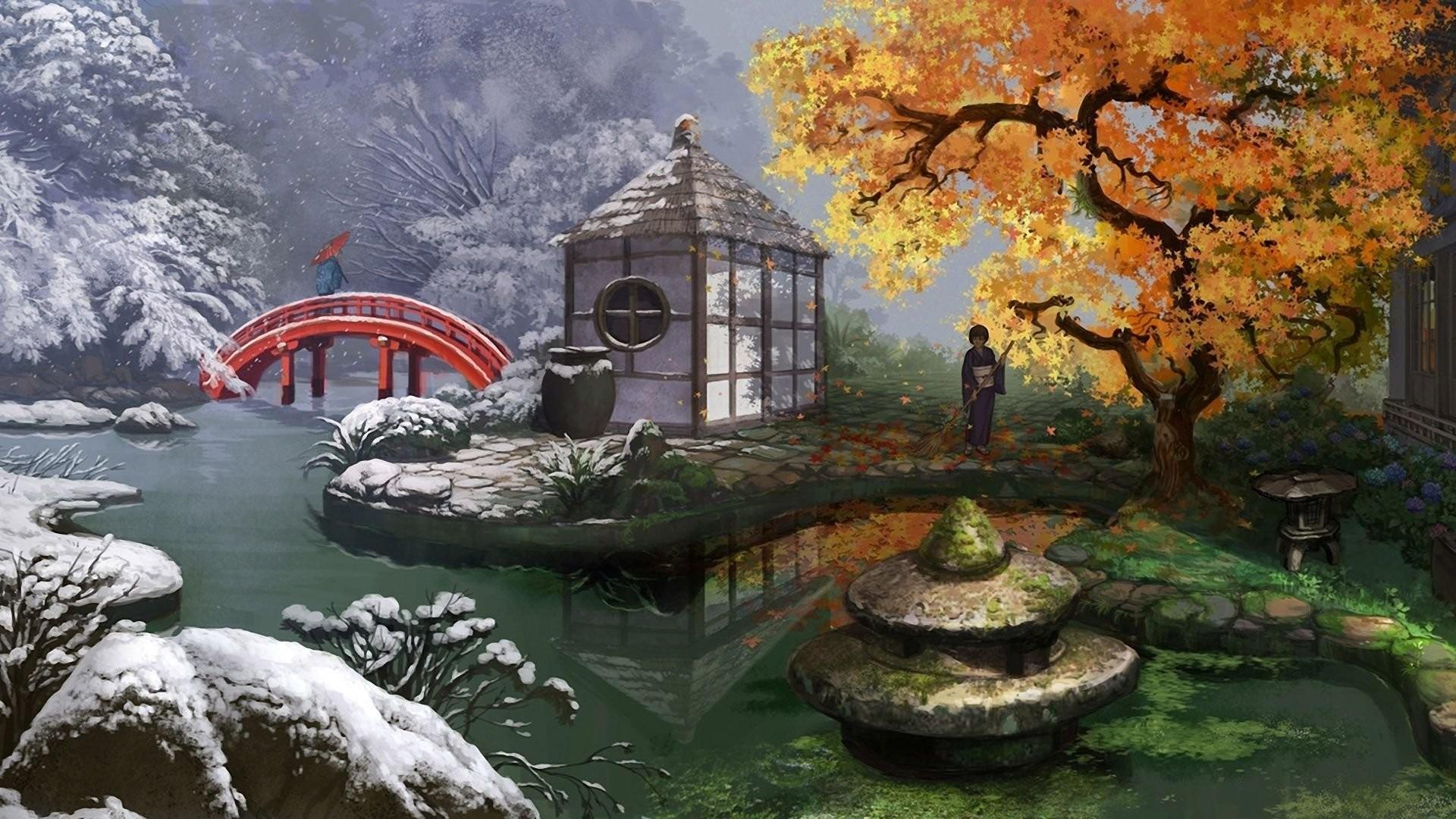 Japanese Gardens Wallpaper 1