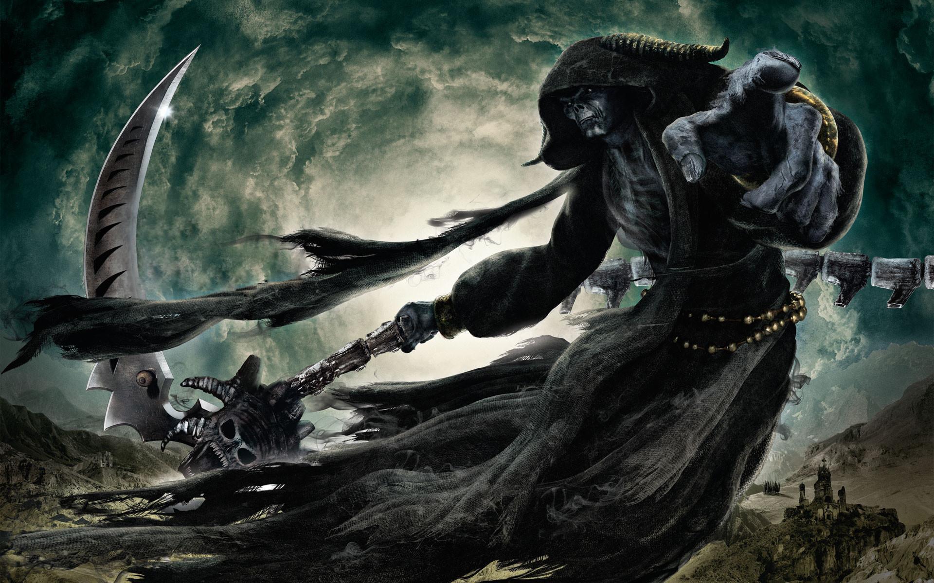 фэнтези графика женщина Grim Reaper  № 3256188 бесплатно