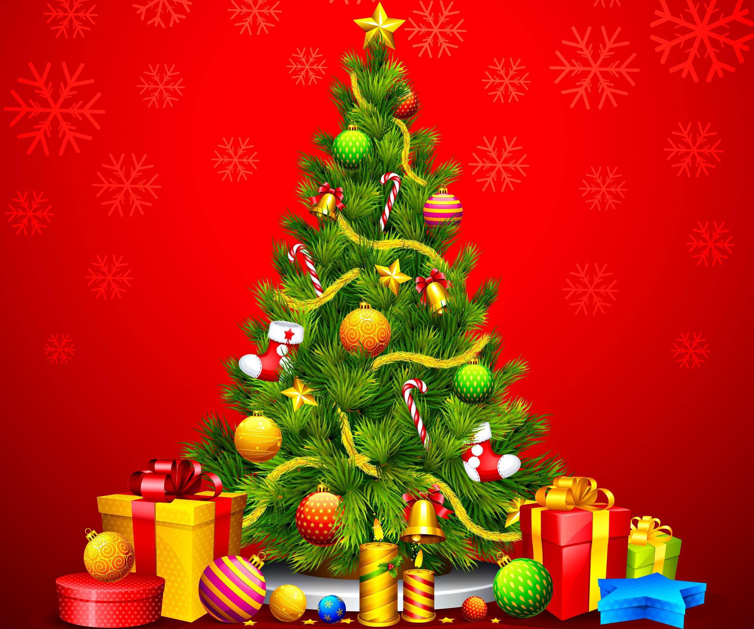 Christmas Tree Wallpaper Backgrounds Wallpapertag