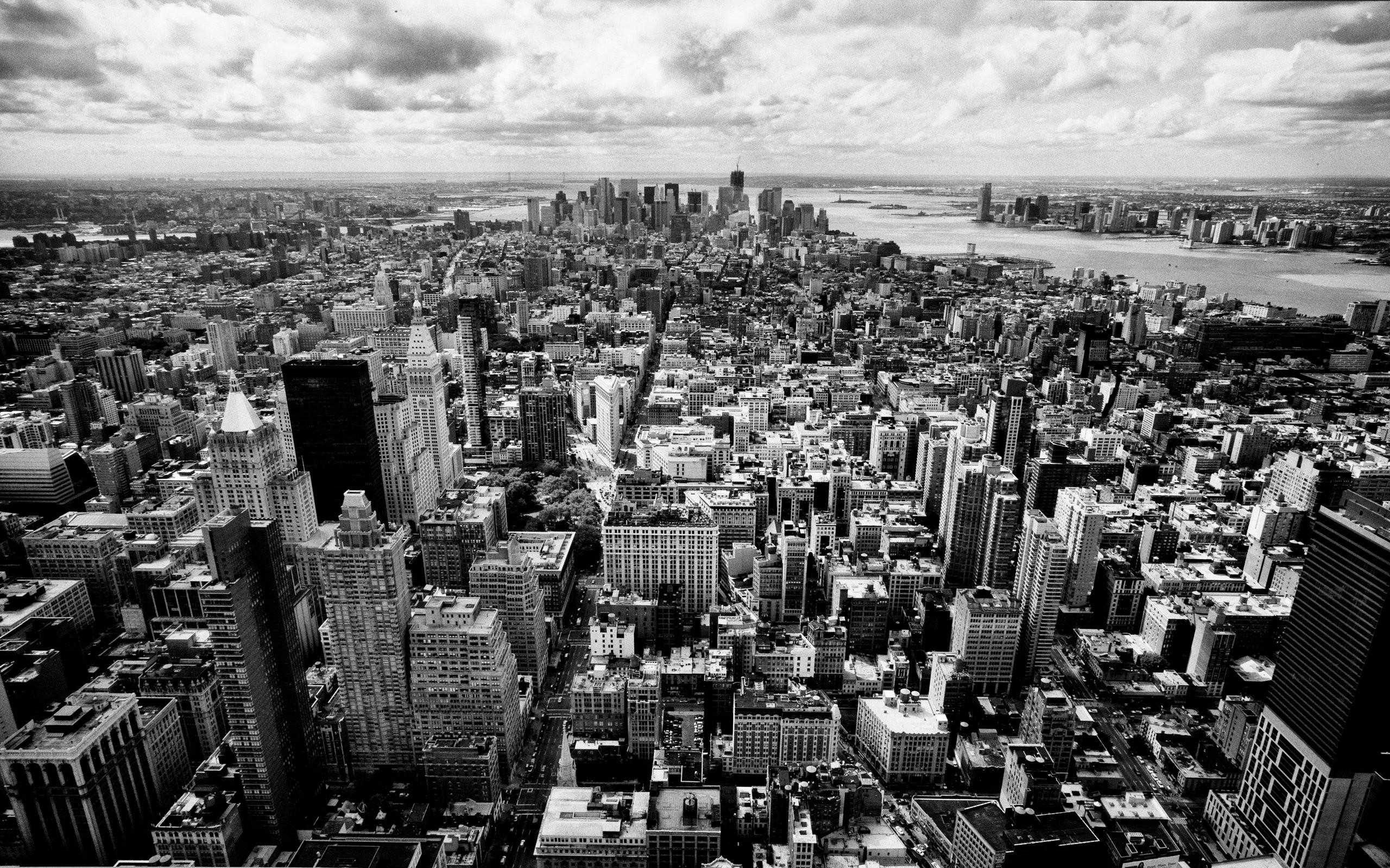 Black And White City Wallpaper Wallpapertag