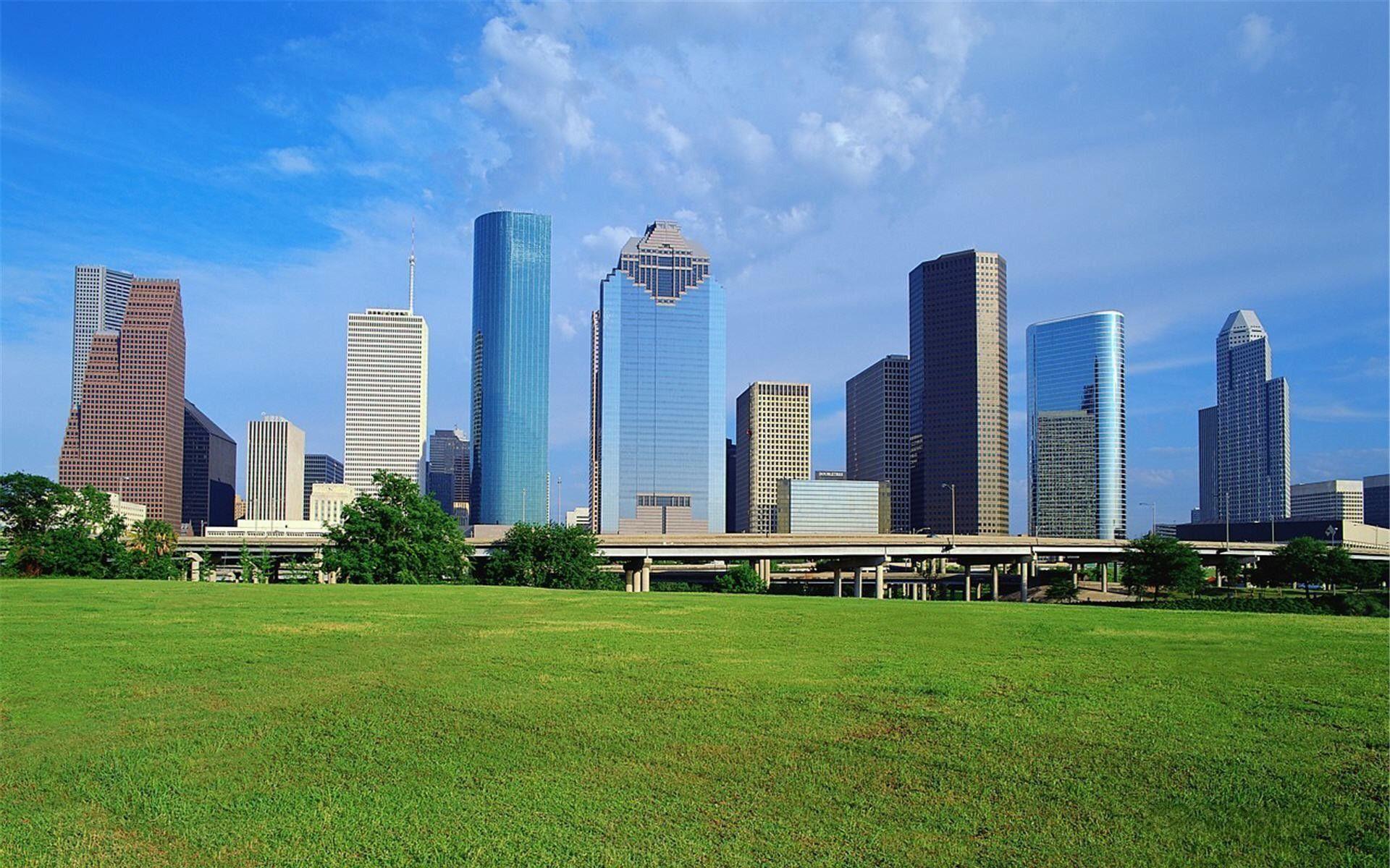 Wallpaperwiki Houston Skyline Image Download Free PIC