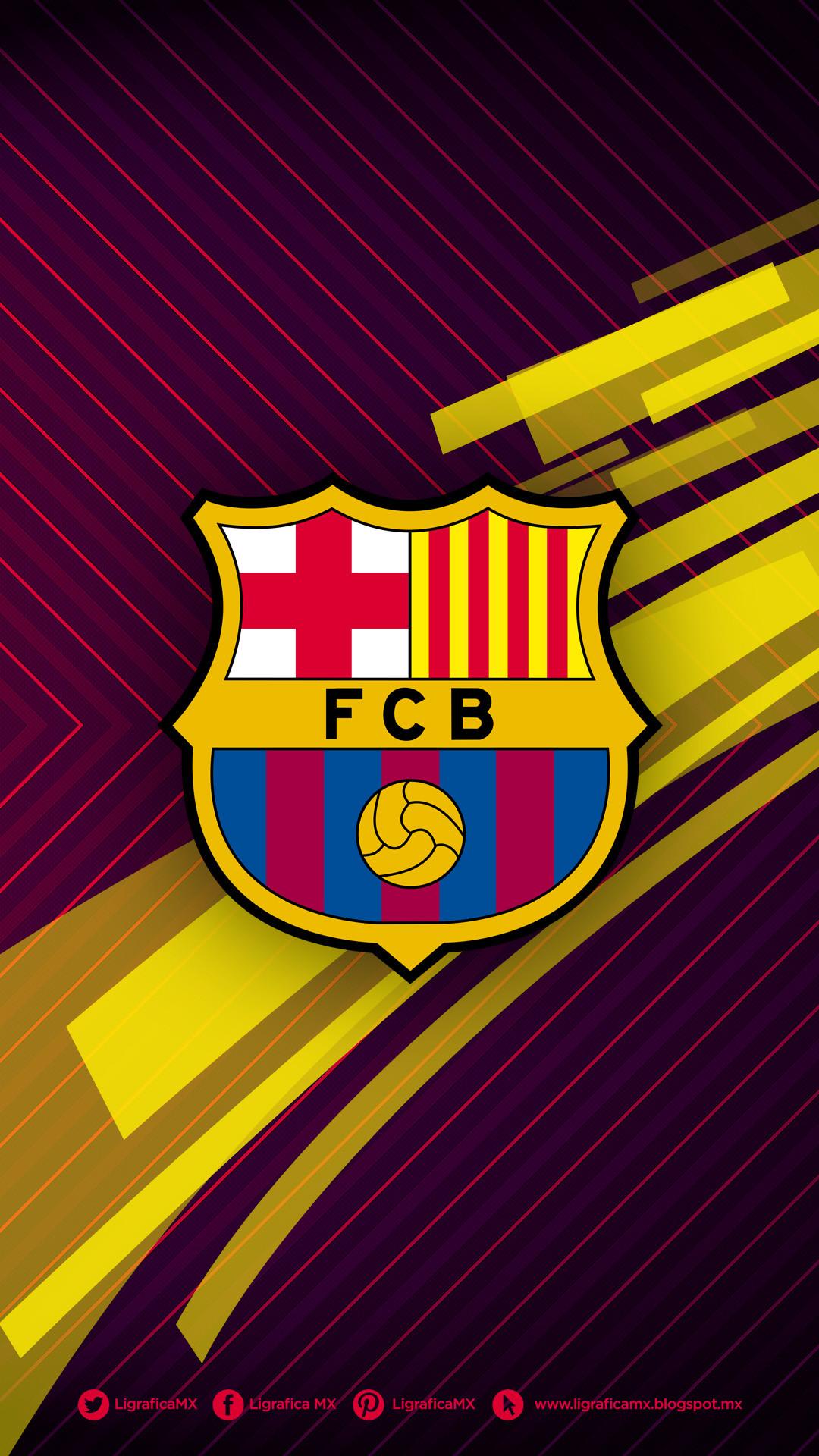 Fc Barcelona Logo Wallpaper ·①