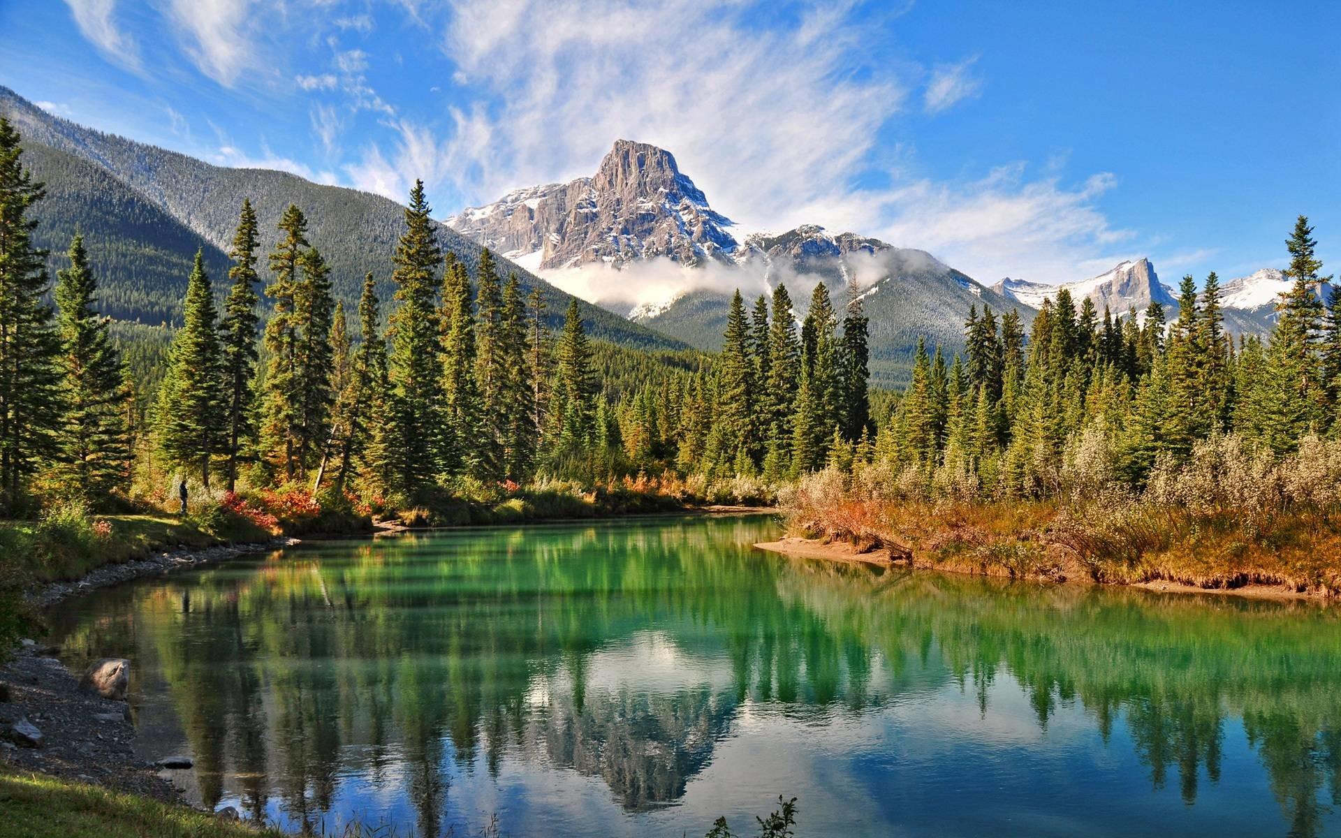 Горы и озеро  № 861468 без смс