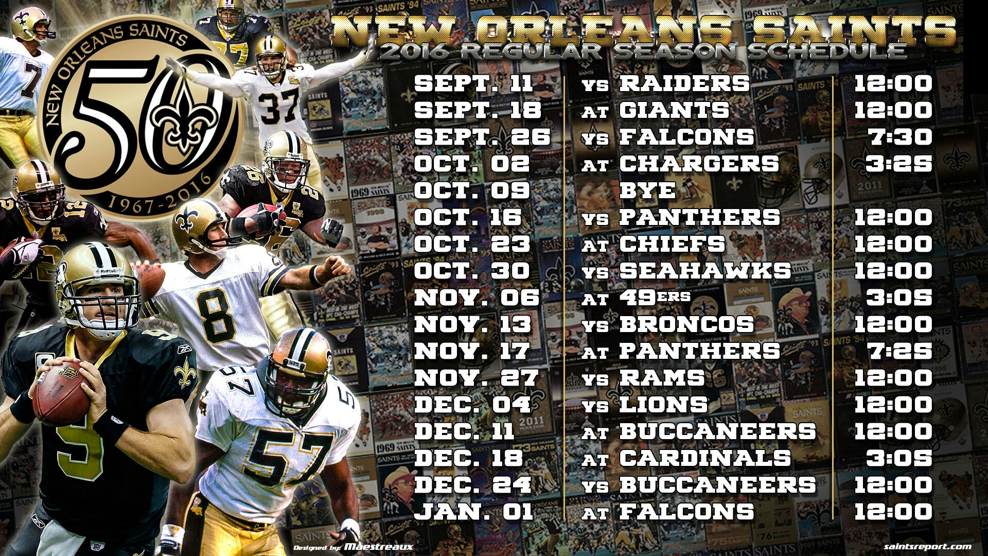 1920x1080 2016 new orleans saints schedule wallpaper · Download · 2560x1440 Detroit Lions Wallpaper