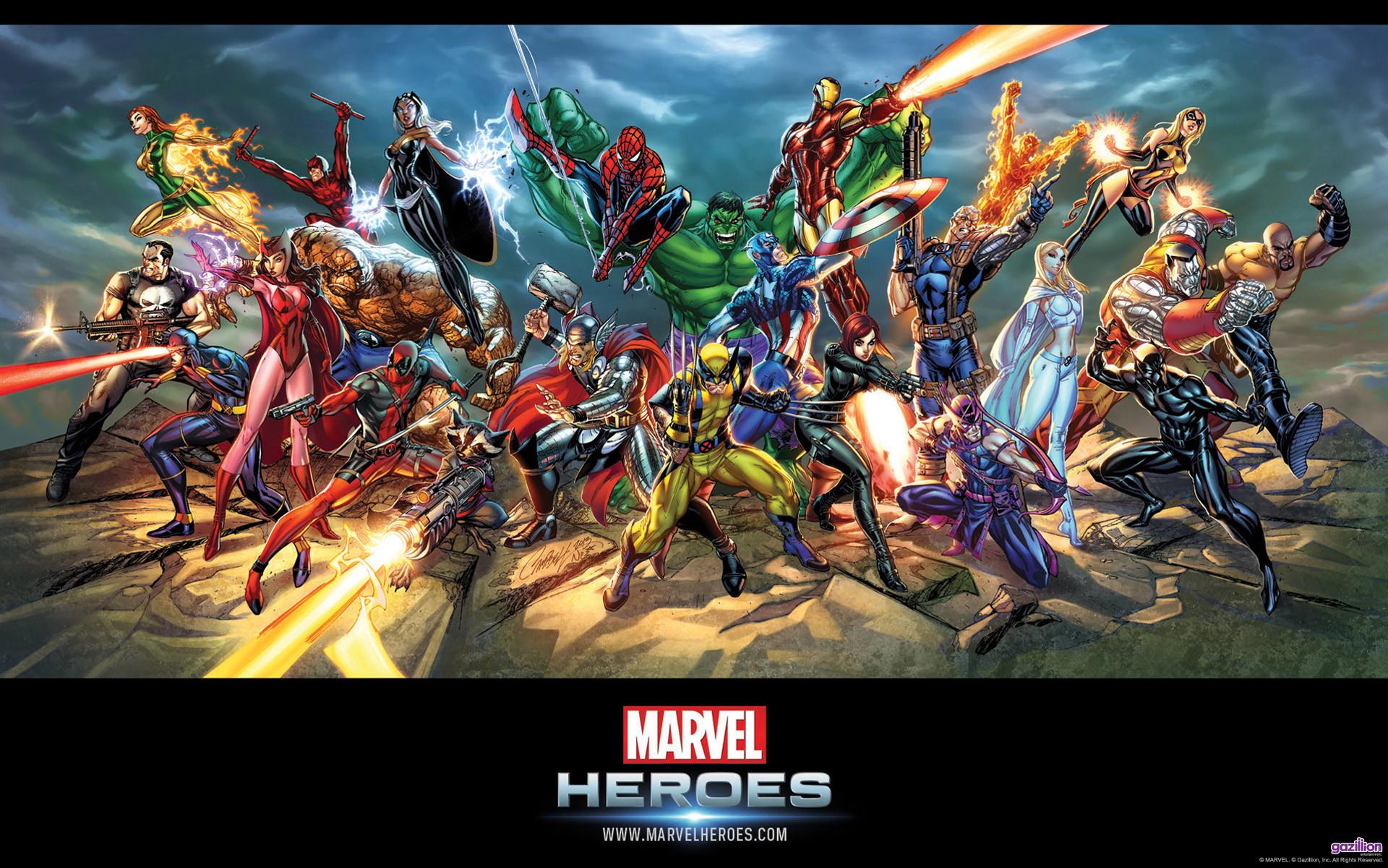Marvel Characters Wallpaper