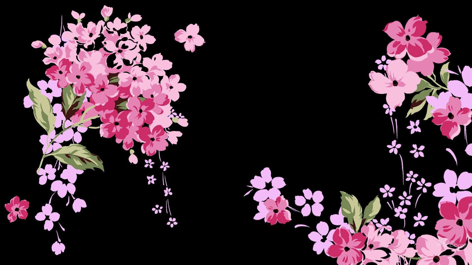 Pink flower wallpaper background pink floral wallpaper ppt backgrounds mightylinksfo