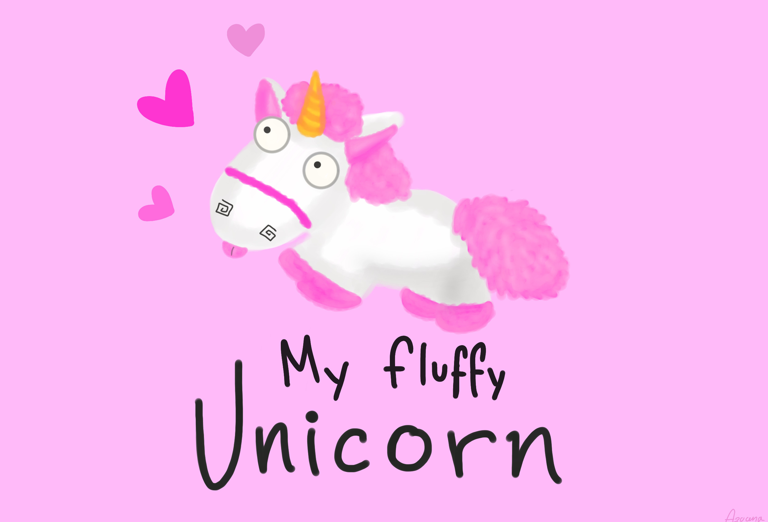 Love Quotes Wall Stickers Pink Fluffy Unicorns Wallpapers 183 ①