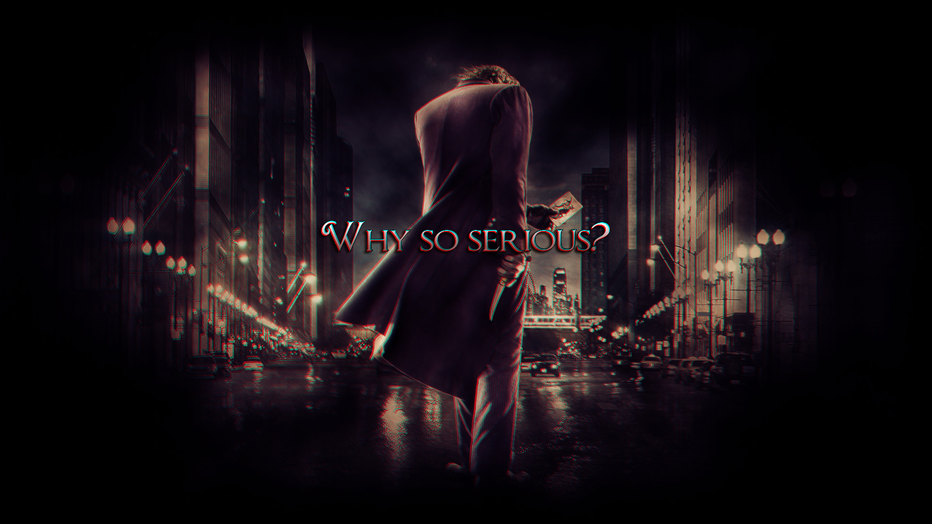 Joker Why So Serious Wallpaper ·①