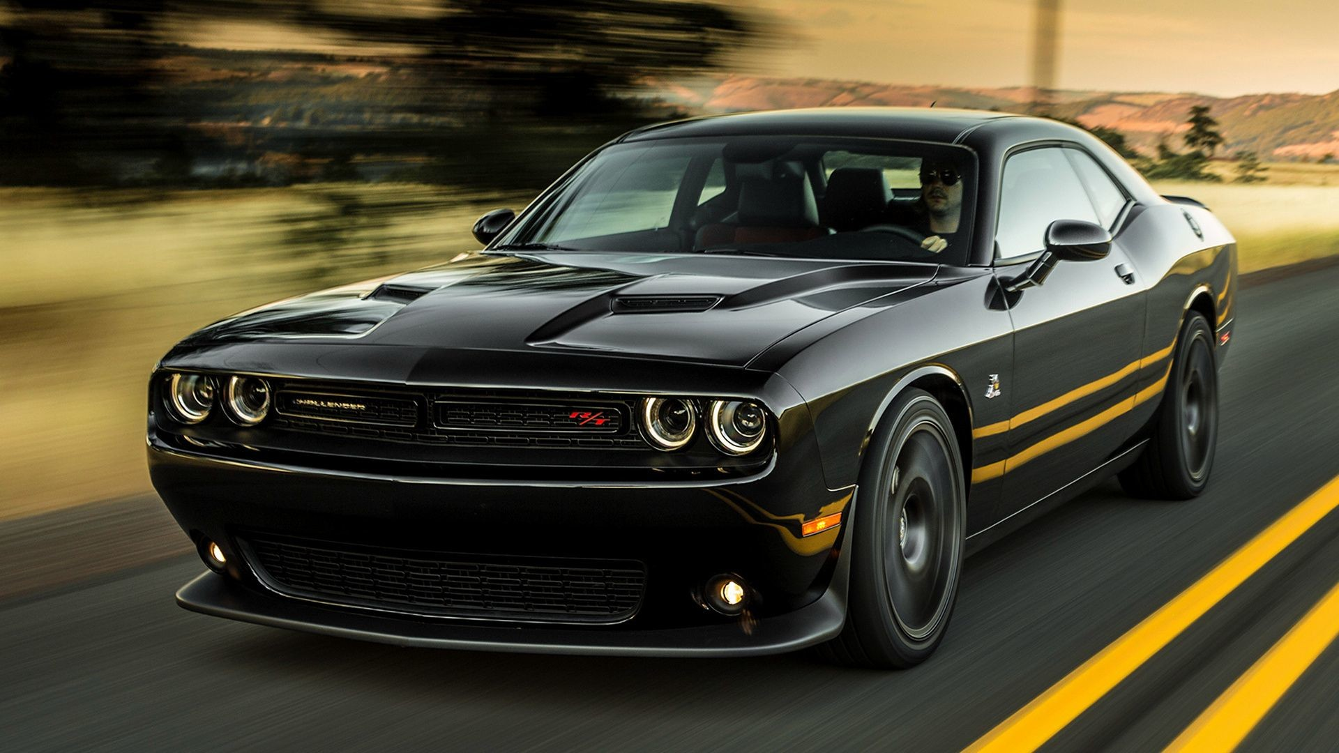 2018 Dodge Challenger Black Wallpapers Wallpapertag