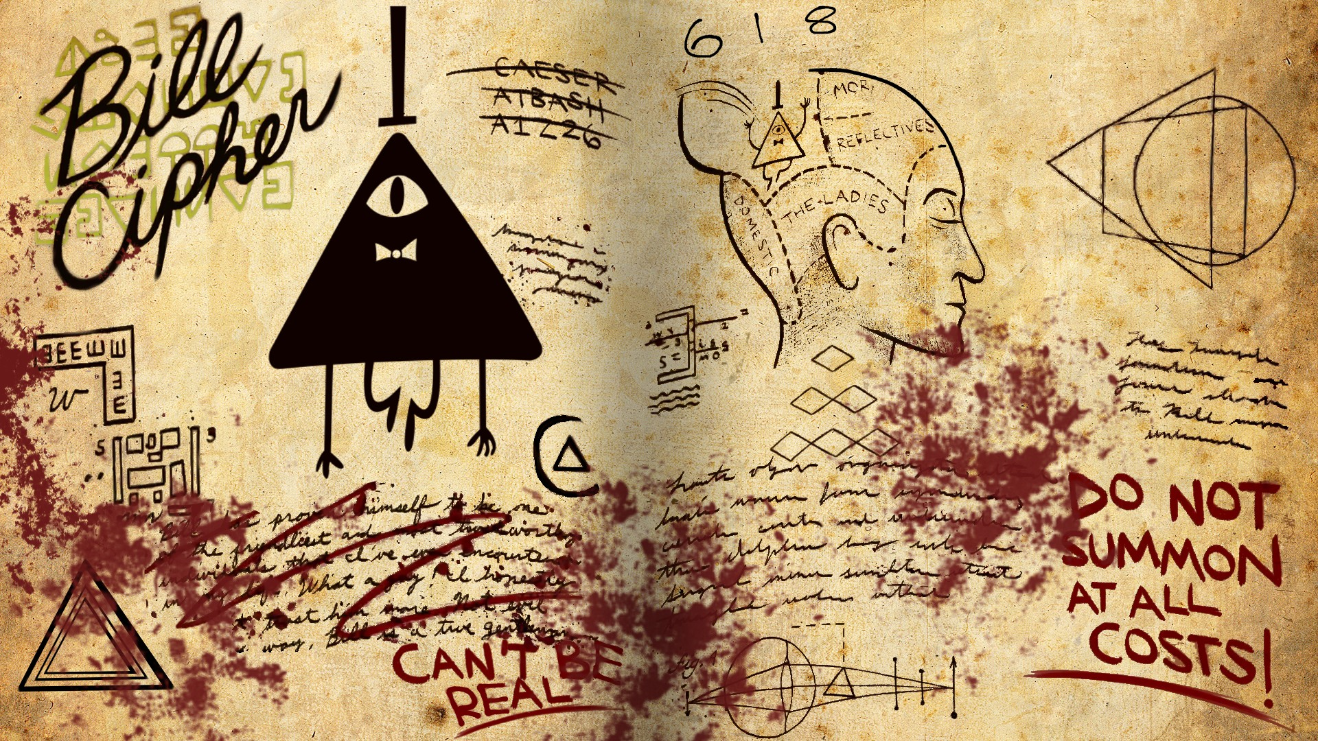 Bill Cipher Wallpaper Iphone By 183 Free Awesome Hd