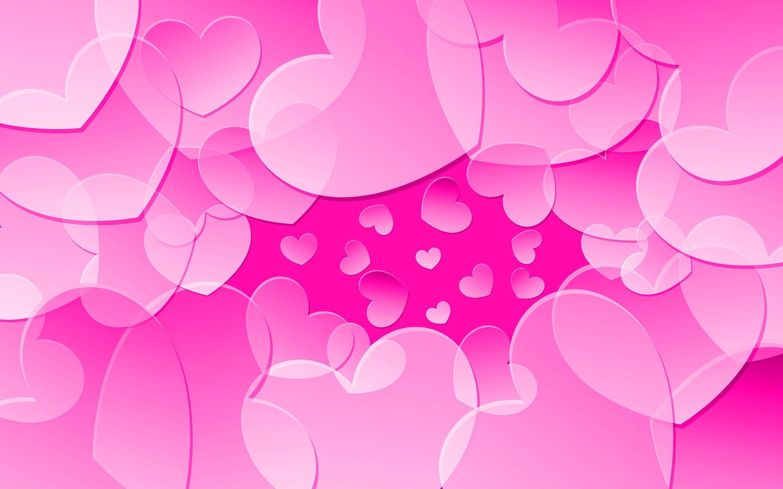 Pink Hearts Wallpaper Wallpapertag