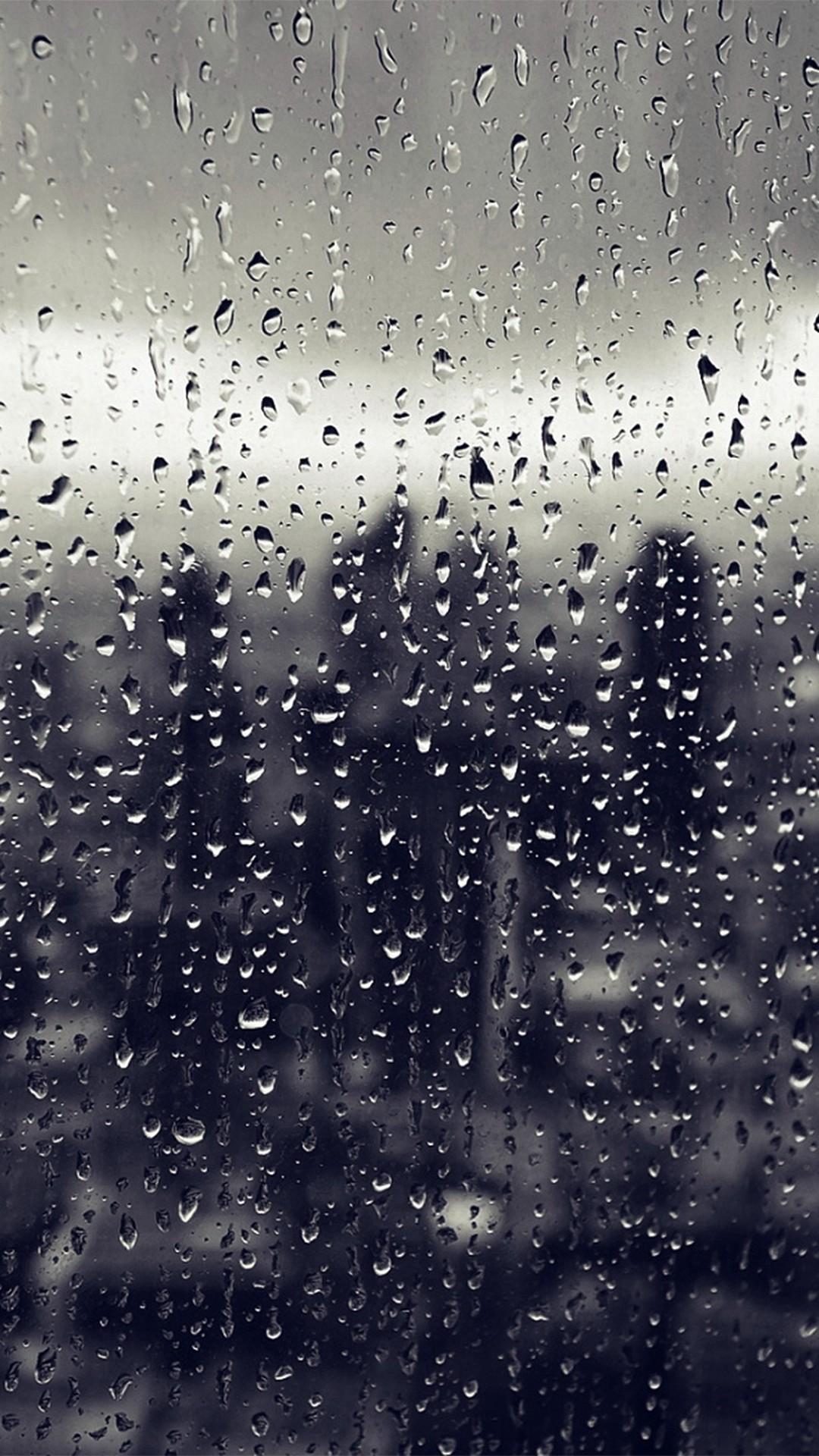 Rain On Window Wallpaper 1