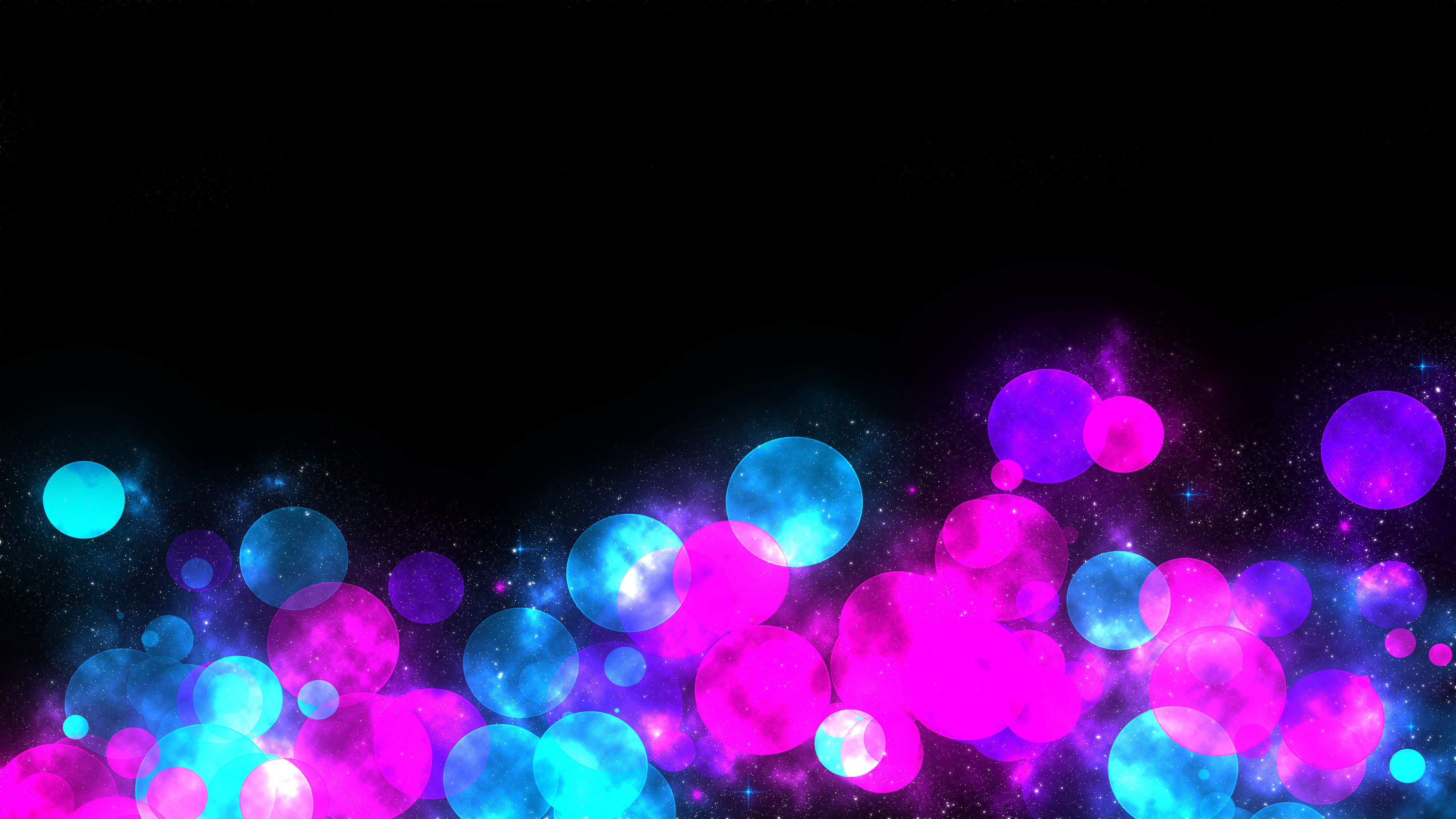 3840x2160 pink and blue balloons on a black background download little pink red stars black background