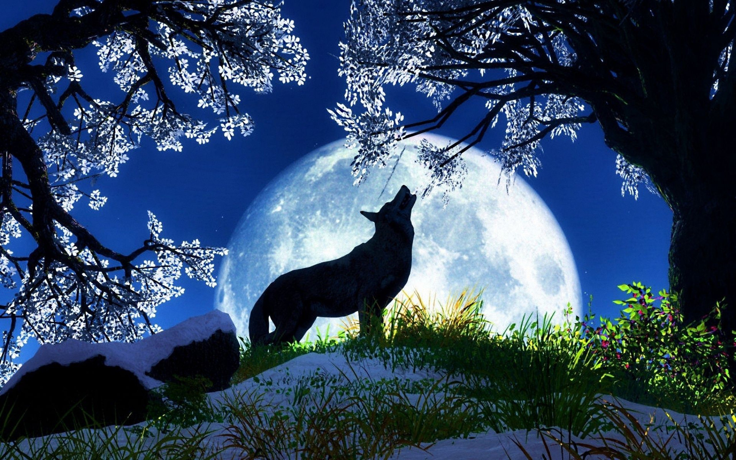 Wolf howling at the moon wallpaper wallpapertag - Wolf howling hd ...