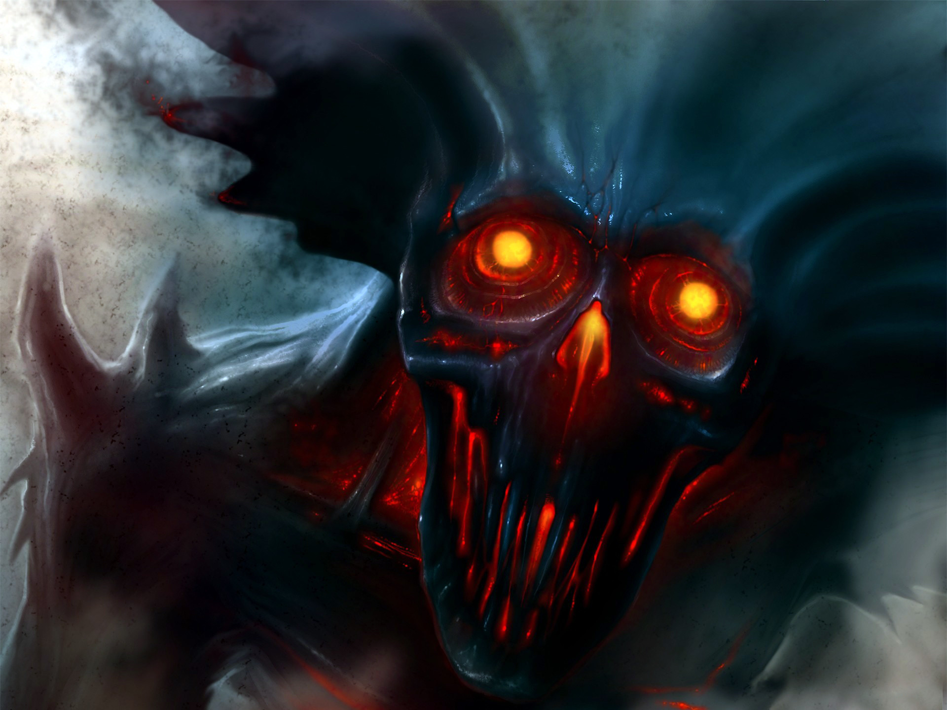 Demons wallpaper - Devil skull wallpaper ...